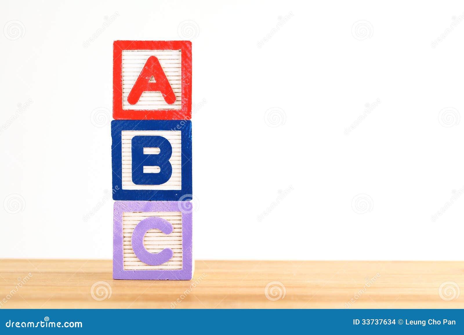 Блок игрушки ABC деревянный