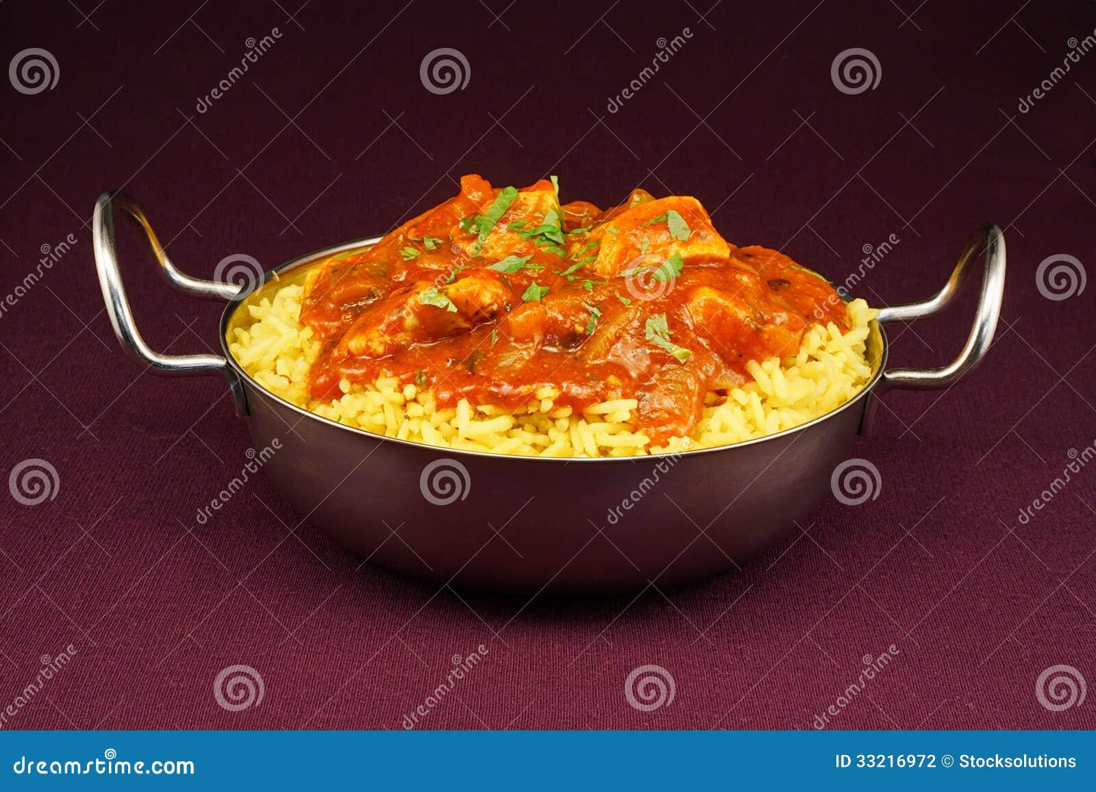 Блюдо balti jalfrezi цыпленка
