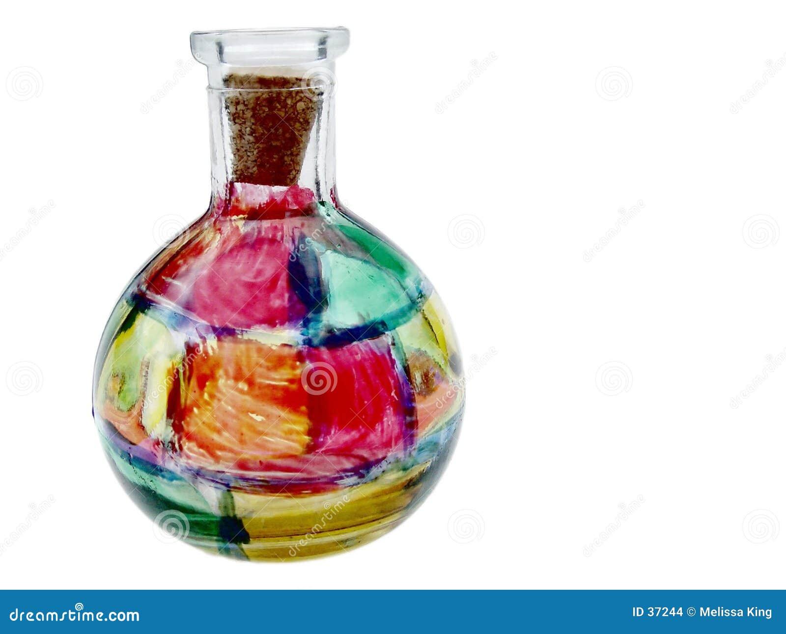 ваза запятнанная стеклом
