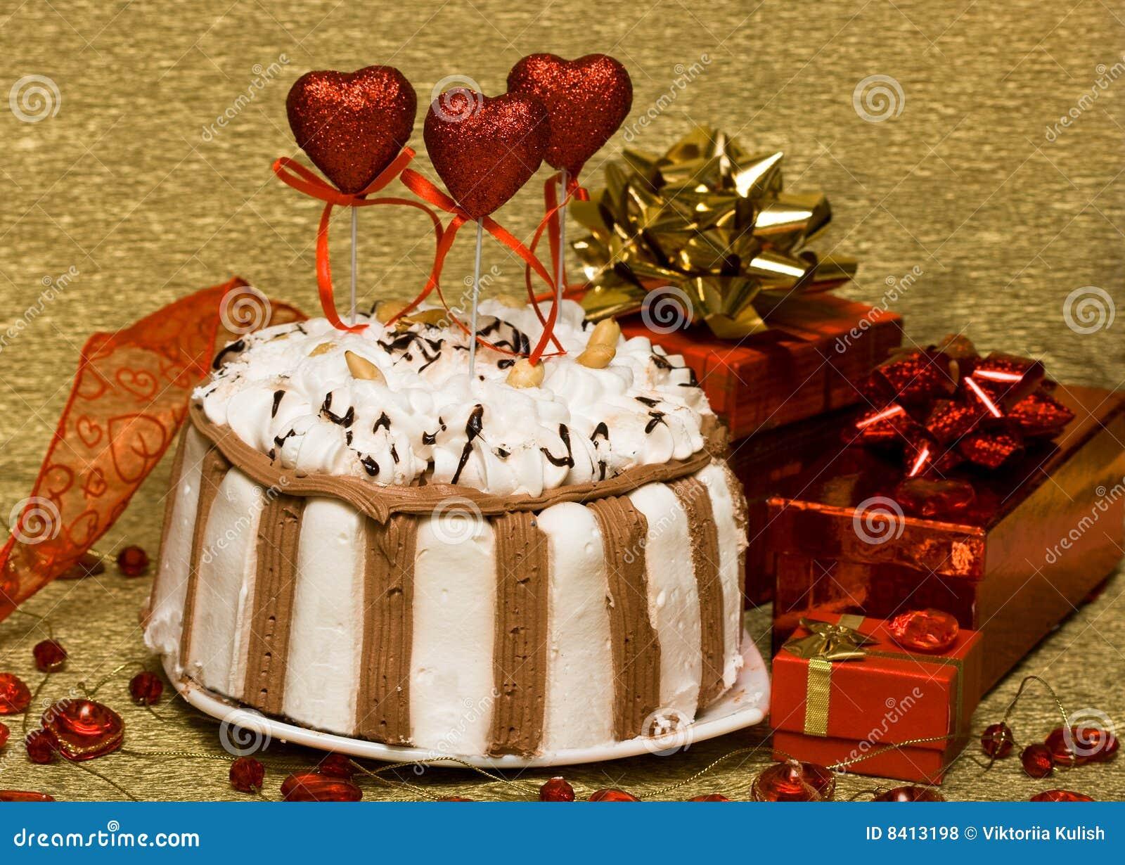 Валентайн сердец торта
