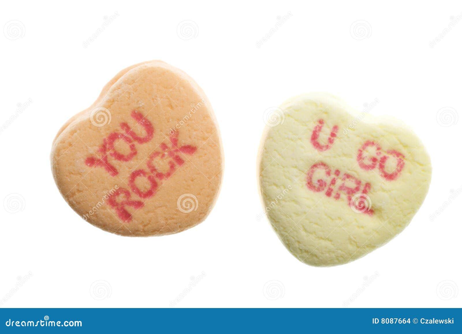 Валентайн сердец s дня конфеты