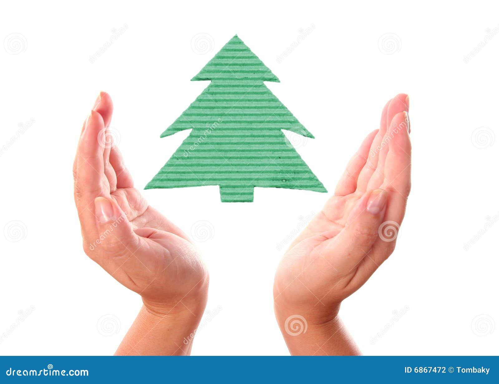 вал руки экологичности рождества