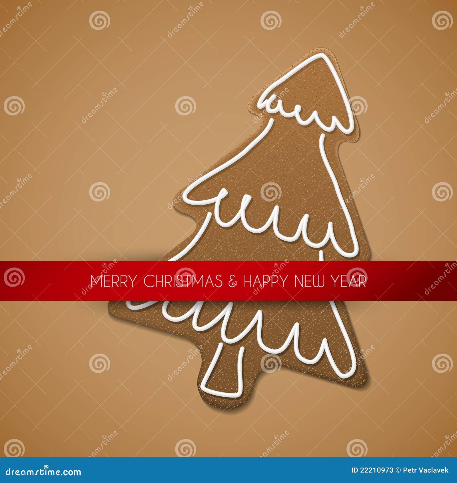 вал gingerbread рождества карточки