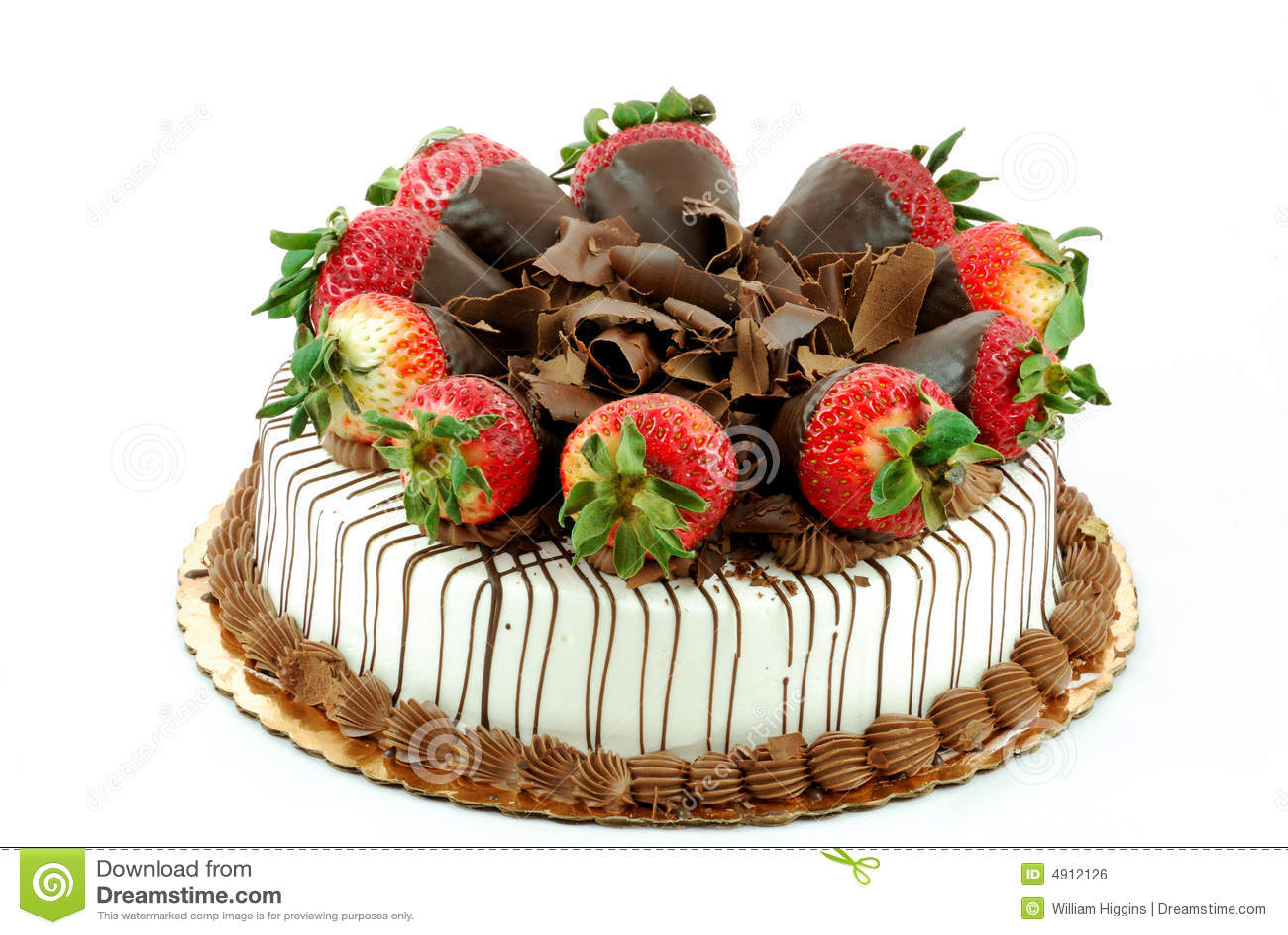 ваниль клубник торта