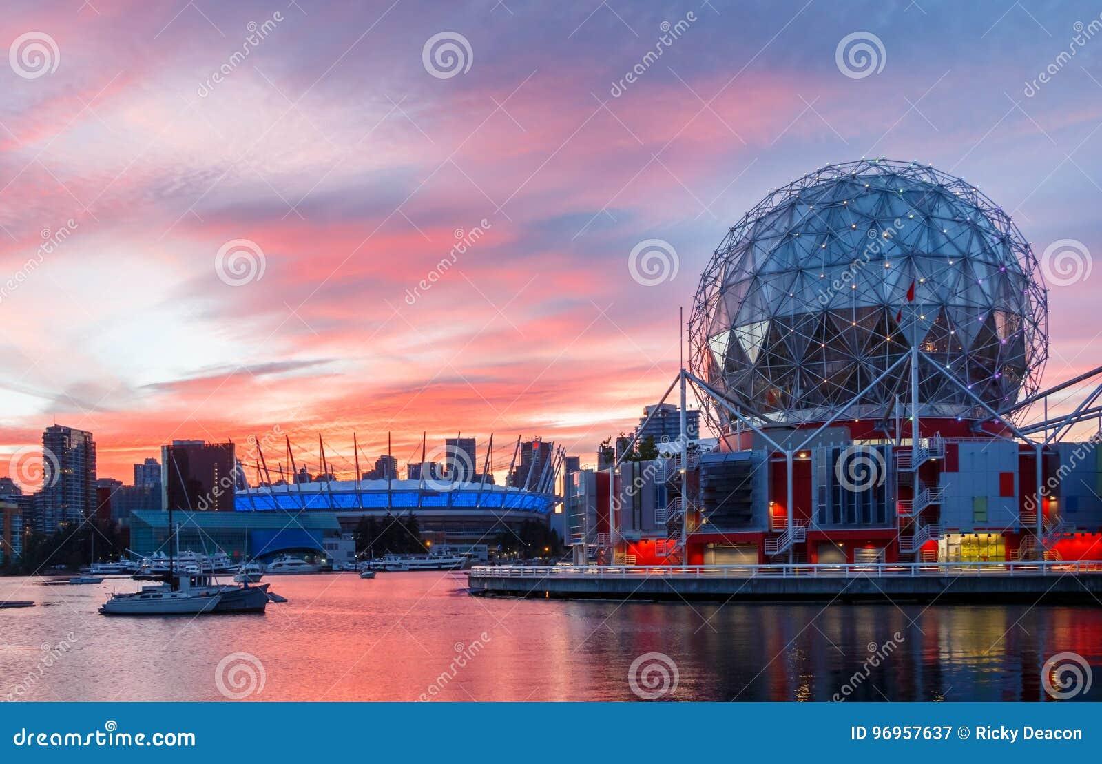 Ванкувер, Канада - около 2017: Мир науки и ДО РОЖДЕСТВА ХРИСТОВА место Stadi