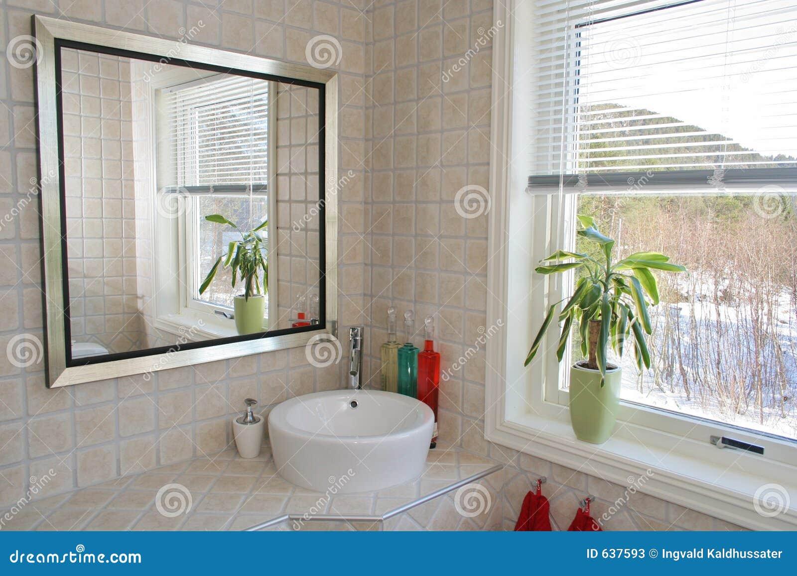 Download ванная комната стоковое изображение. изображение насчитывающей зеркало - 637593