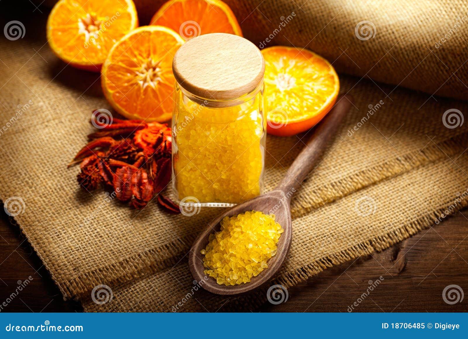 ванна fruits померанцовое соль
