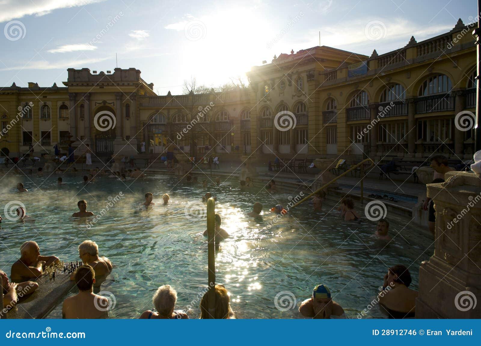 Ванна Szechenyi термальная, Будапешт
