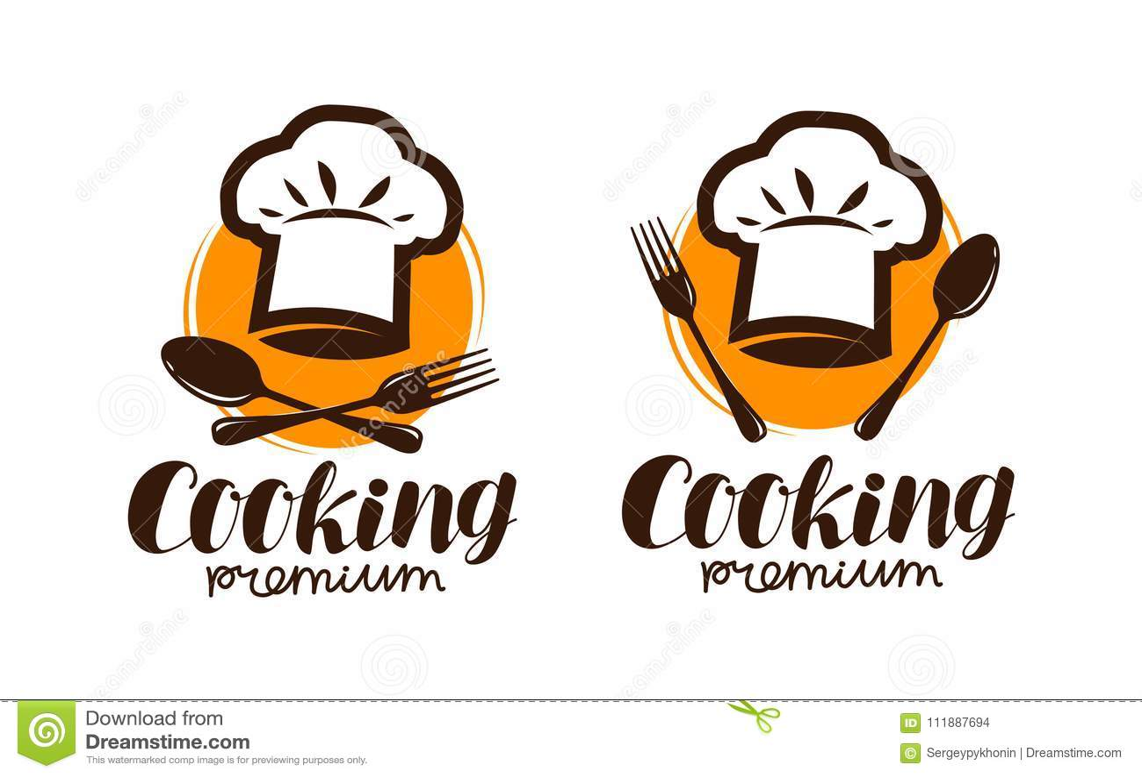 Варить логотип или ярлык Эмблема для дизайна меню ресторана или кафа Иллюстрация вектора литерности
