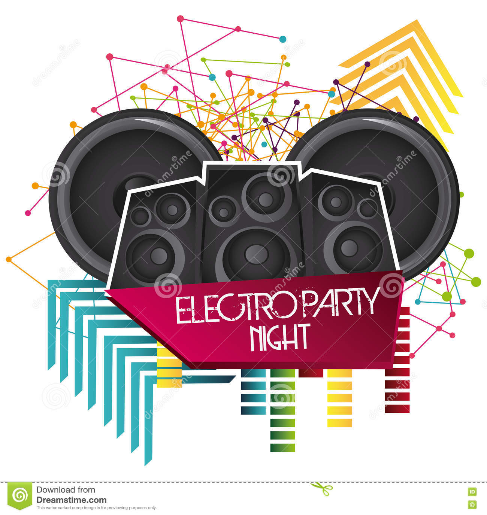 ваше диктора иконы элемента конструкции урбанское Electro дизайн партии по мере того как вектор свирли предпосылки декоративный г