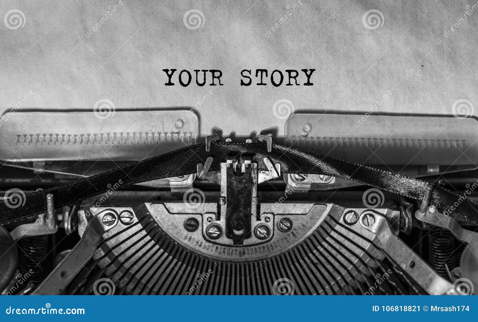 Ваш рассказ напечатал слова на винтажной машинке