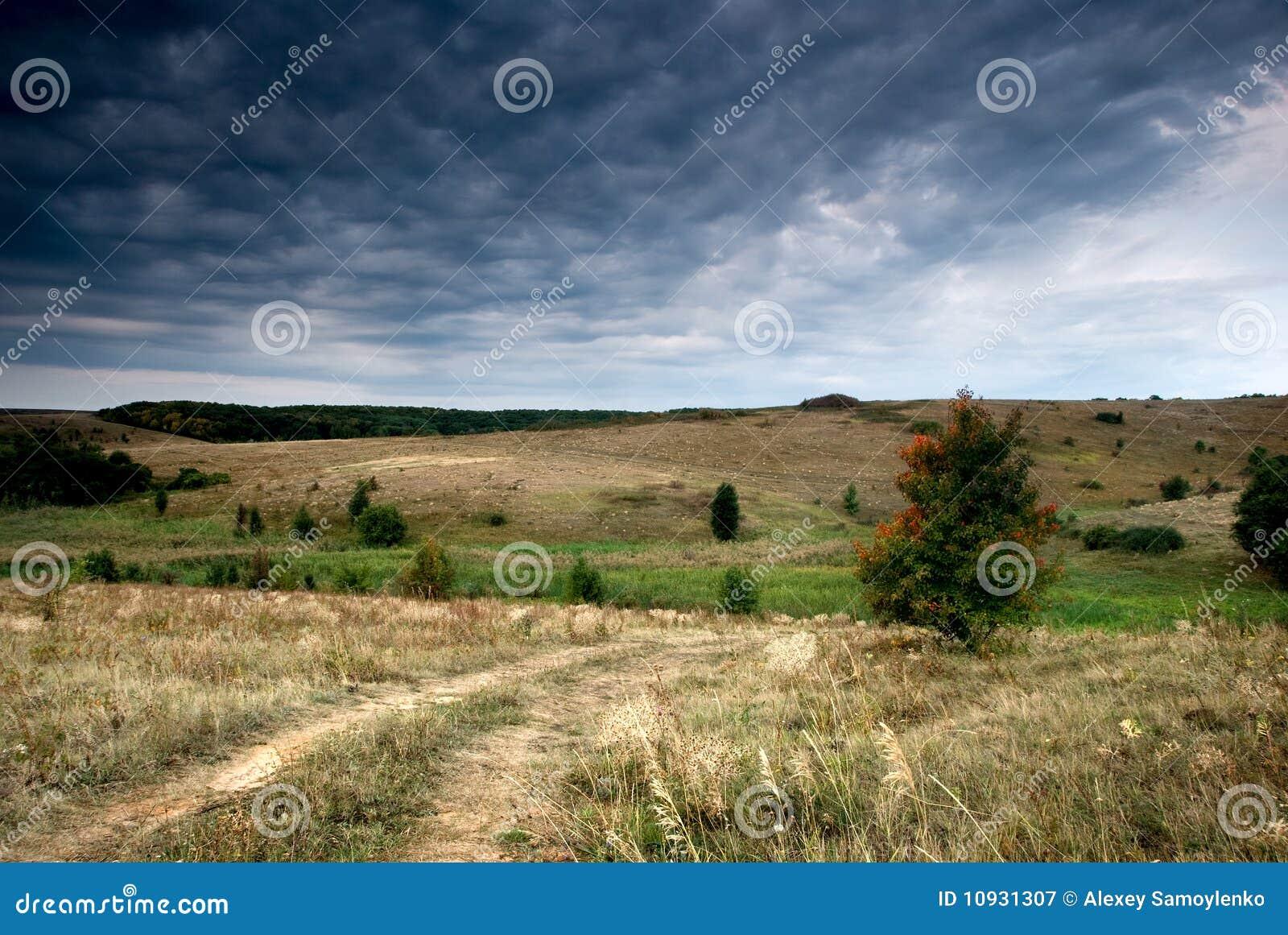 вдоль вала штанги осени сельского
