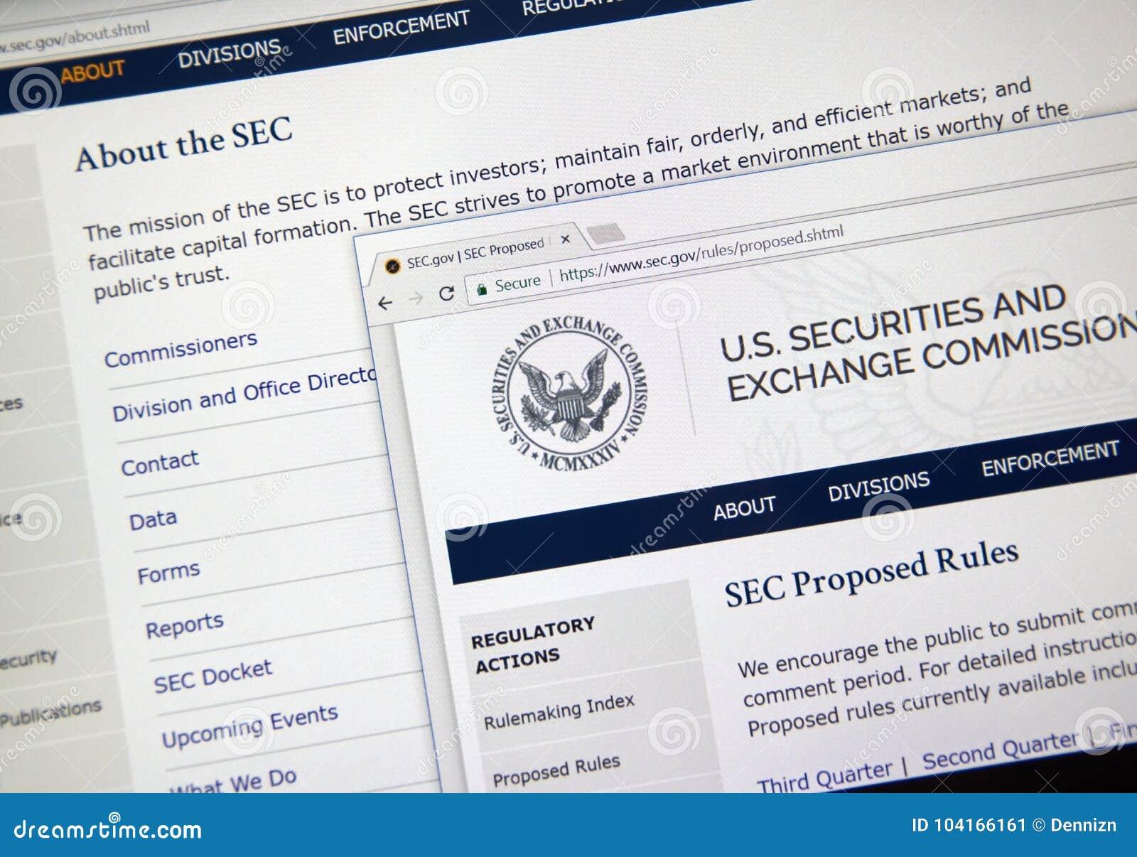 Веб-страница дома SEC