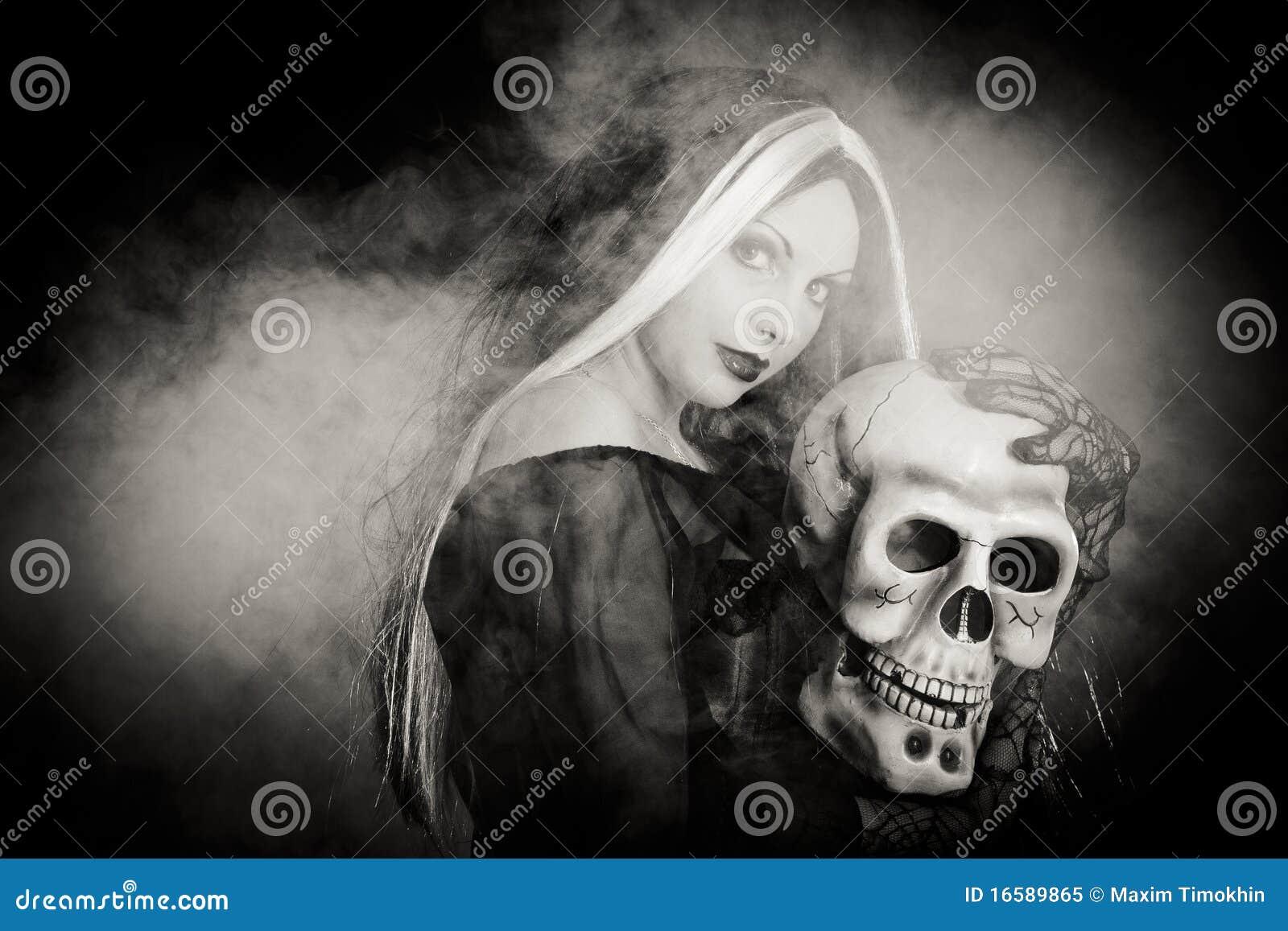 ведьма черепа halloween