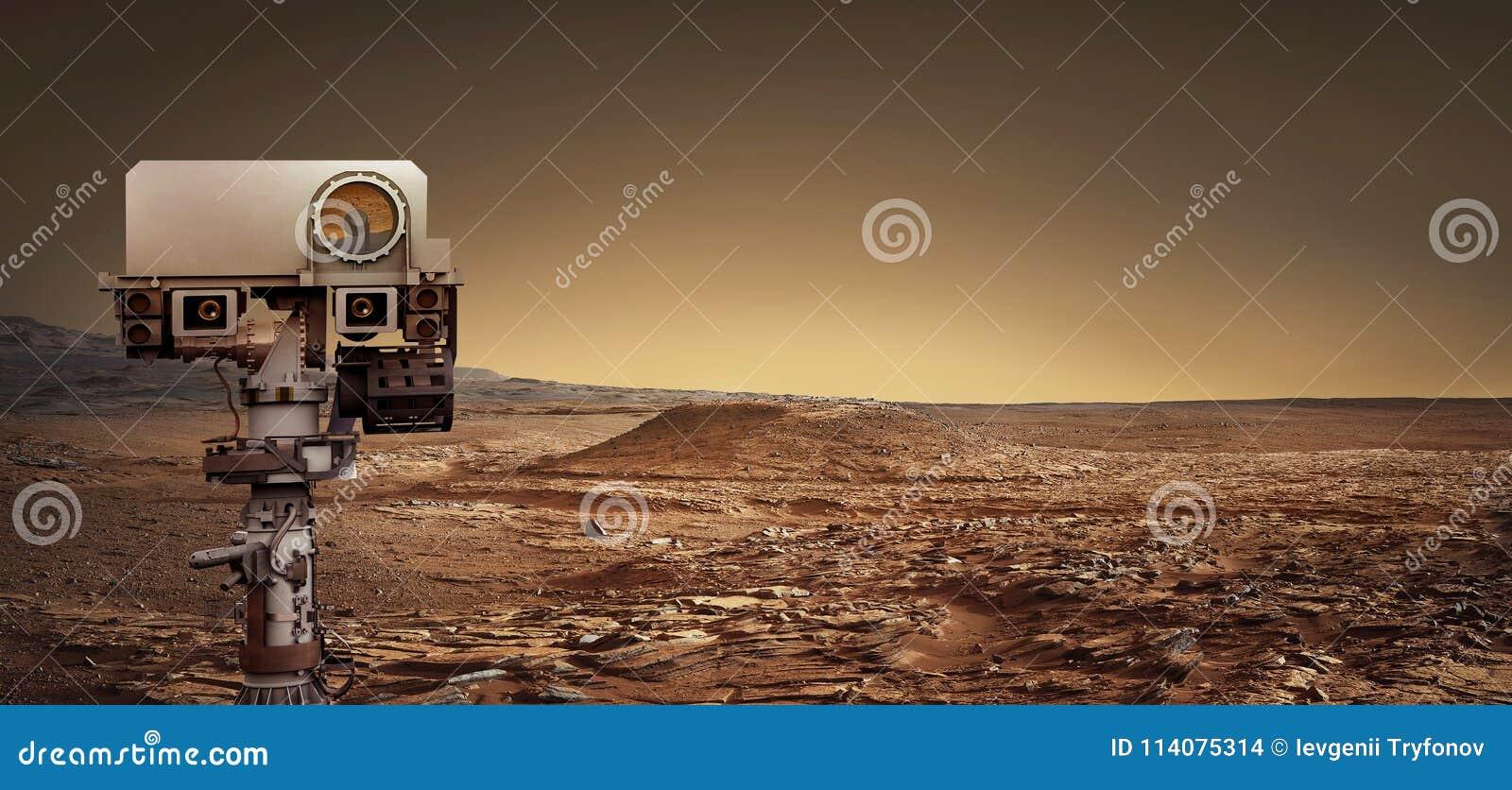 Вездеход Марса исследует красную планету Элементы этого furni изображения