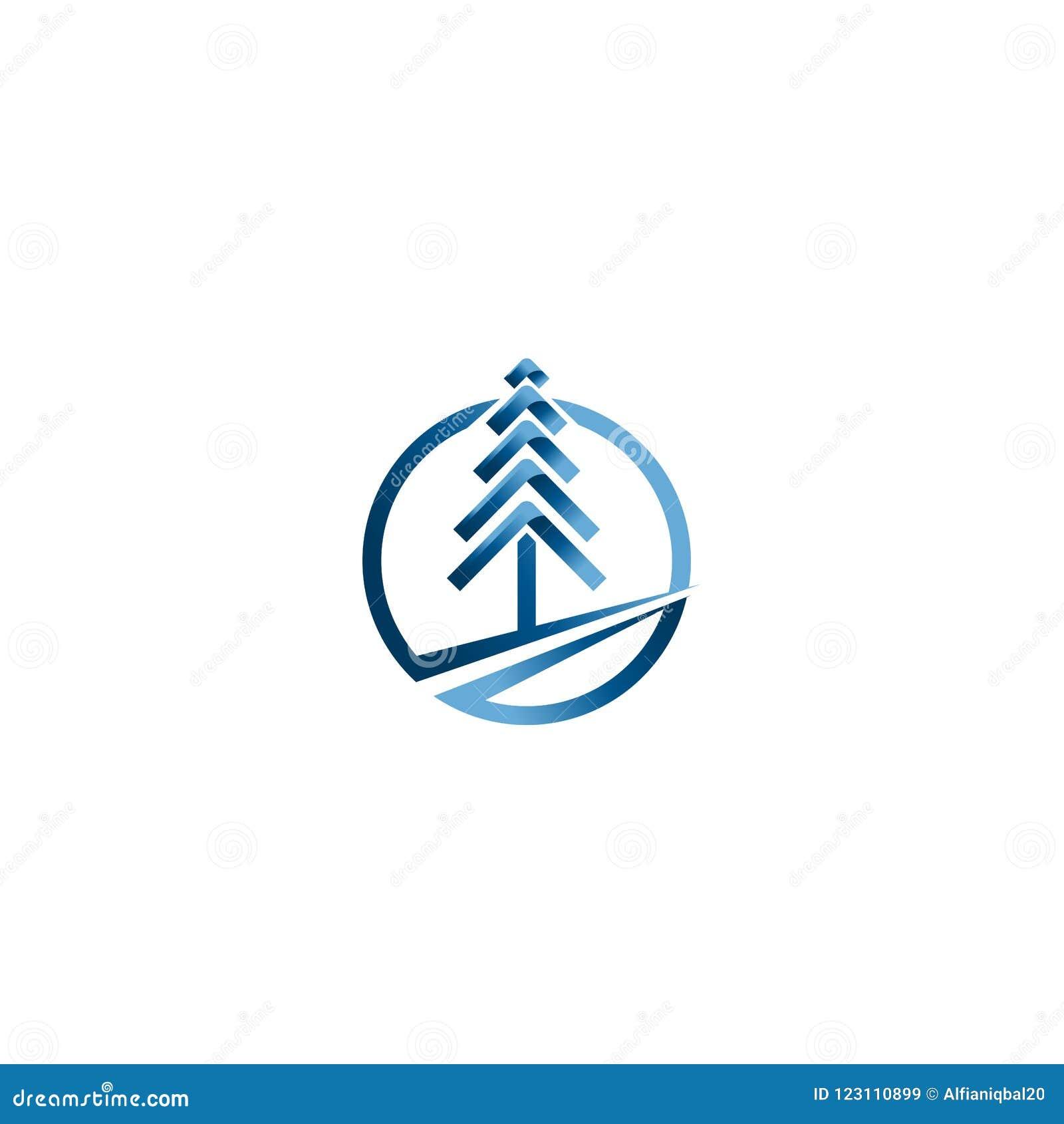 Векторы рождественской елки Творческий шаблон вектора дизайна логотипа рождества Идея логотипа дерева технологии