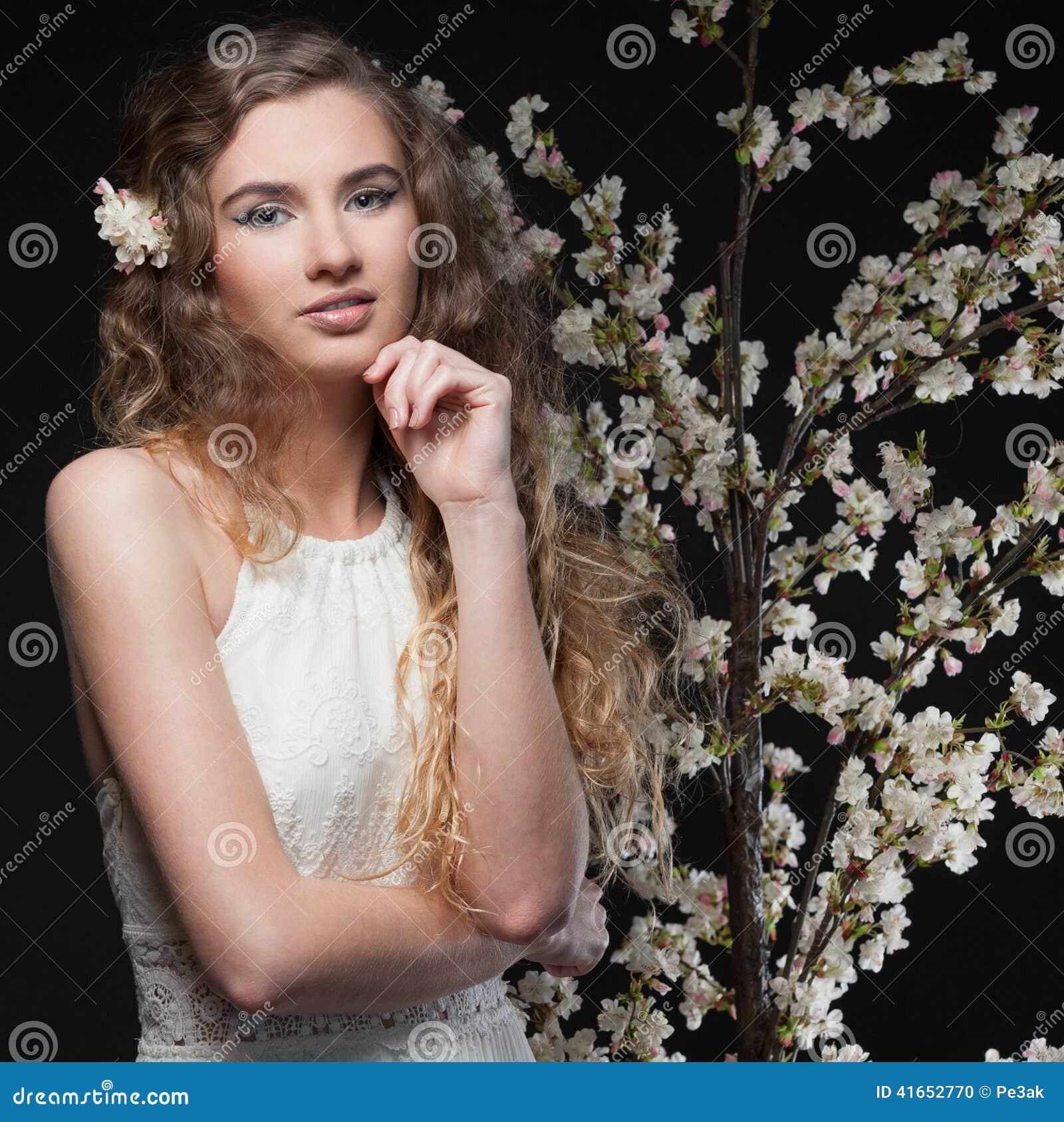 вектор весны иллюстрации девушки 10 eps