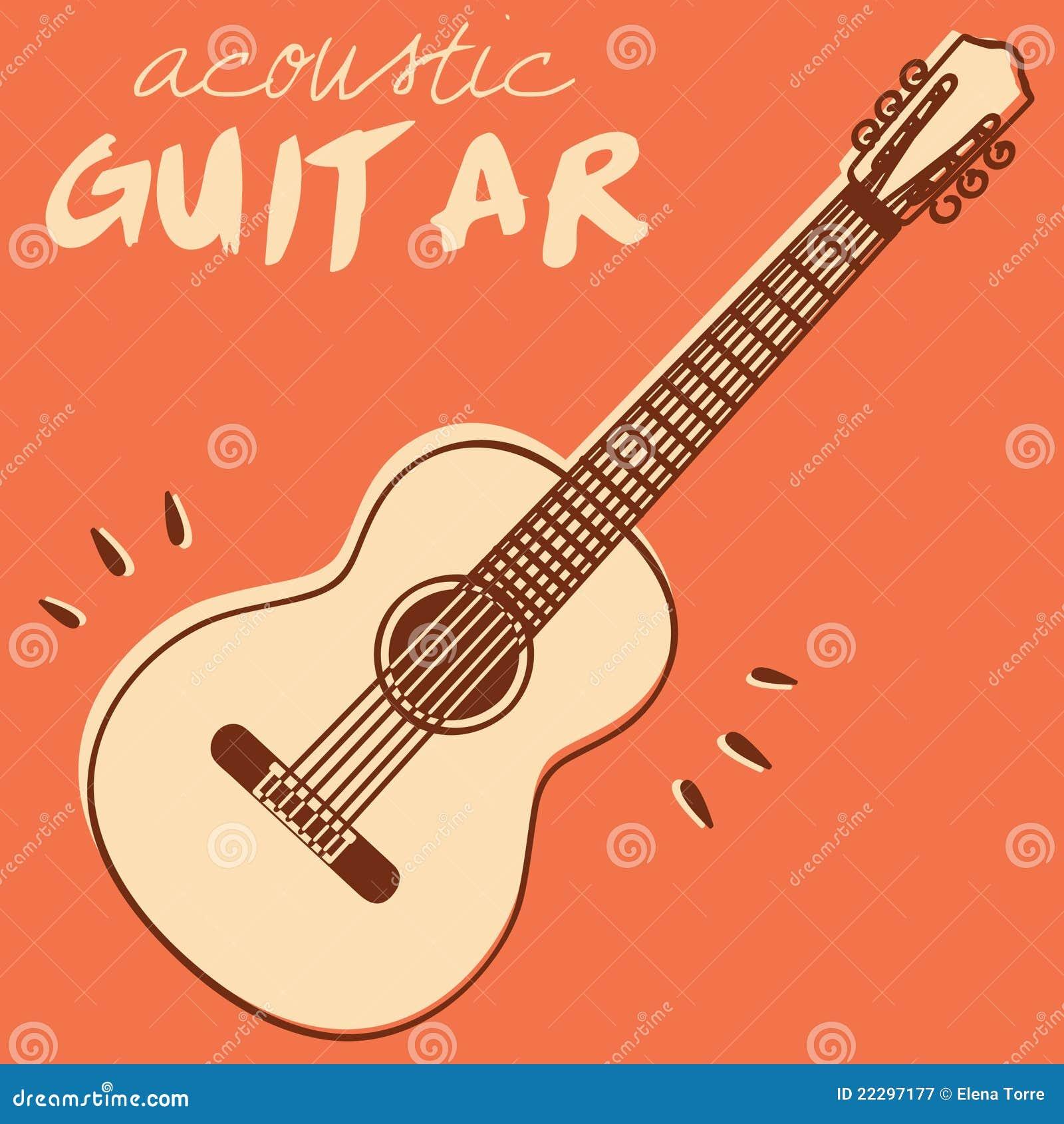 вектор гитары