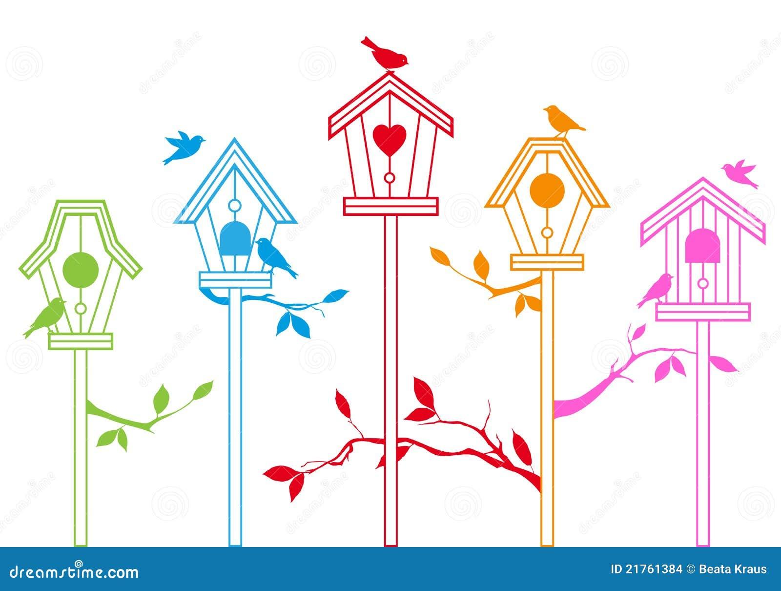 вектор домов птицы милый