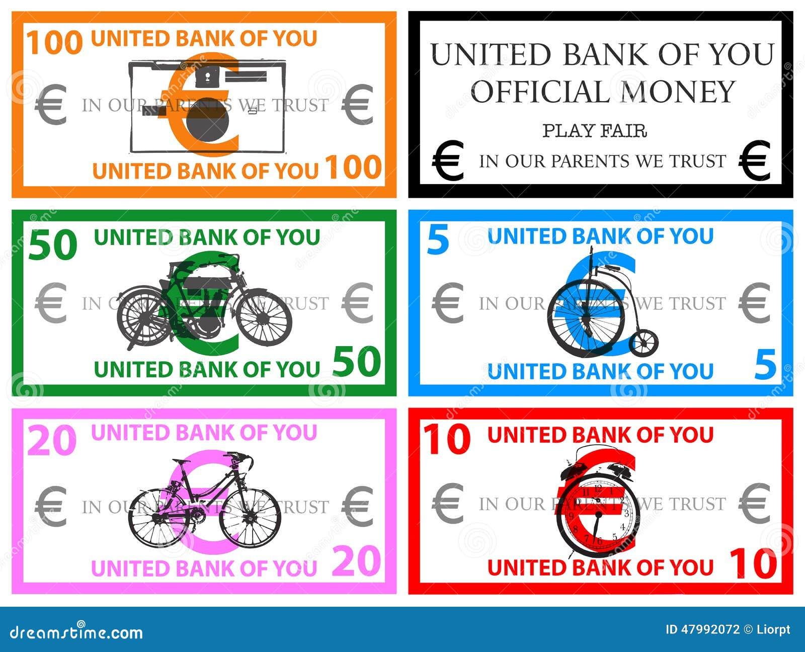 Вектор денег игры евро