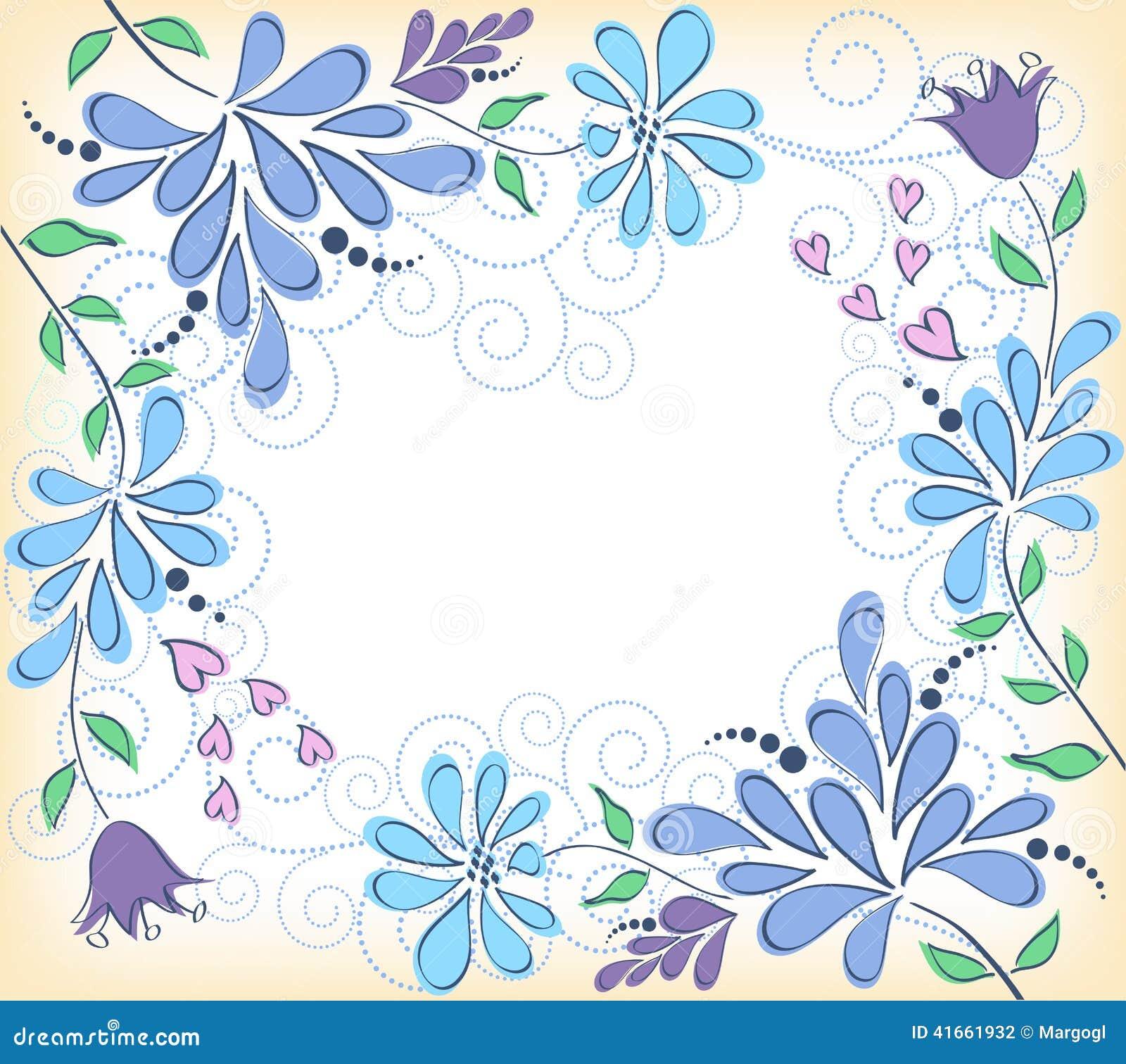 вектор детального чертежа предпосылки флористический bluets