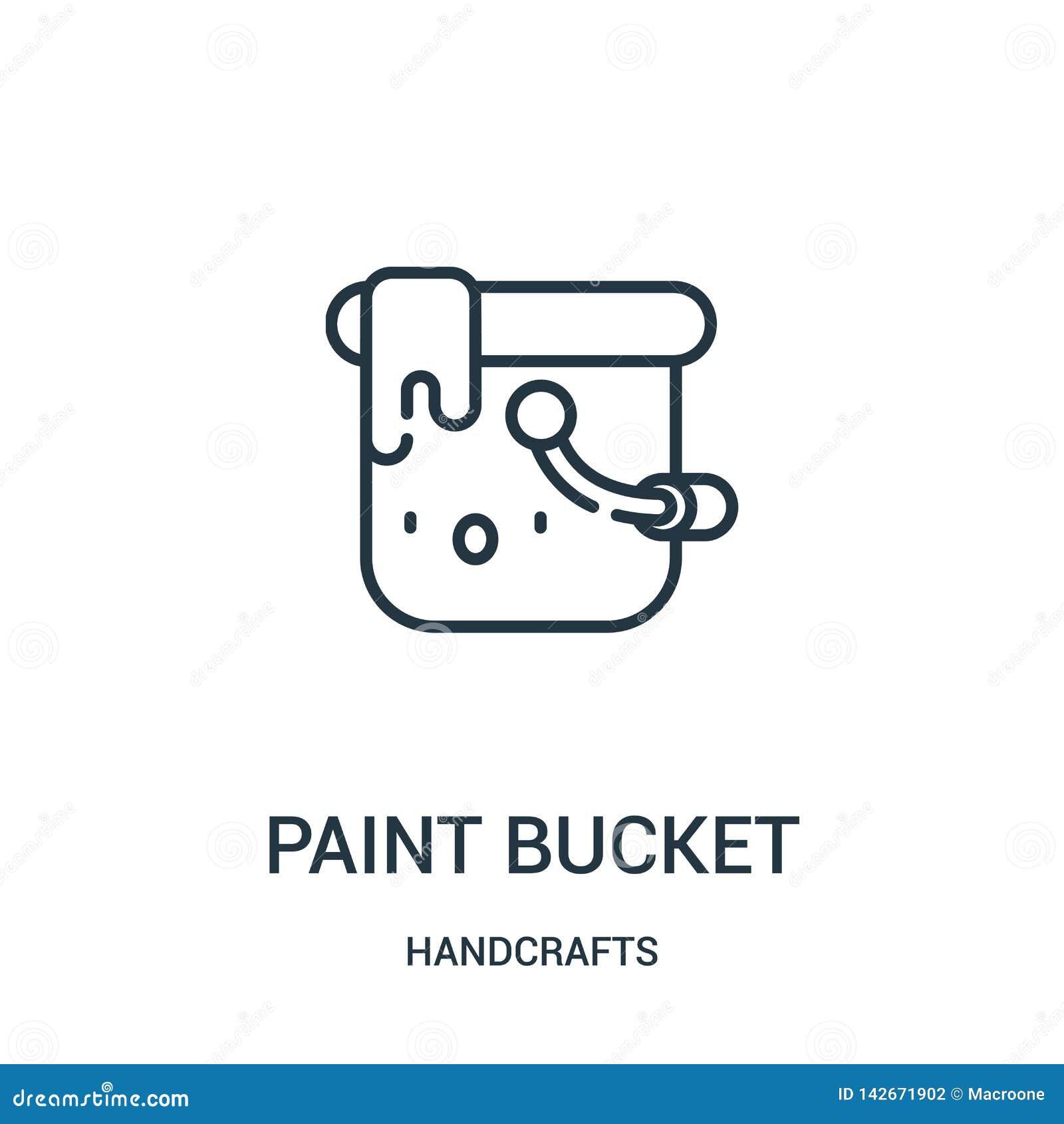 вектор значка ведра краски от handcrafts собрание Тонкая линия иллюстрация вектора значка плана ведра краски Линейный символ для