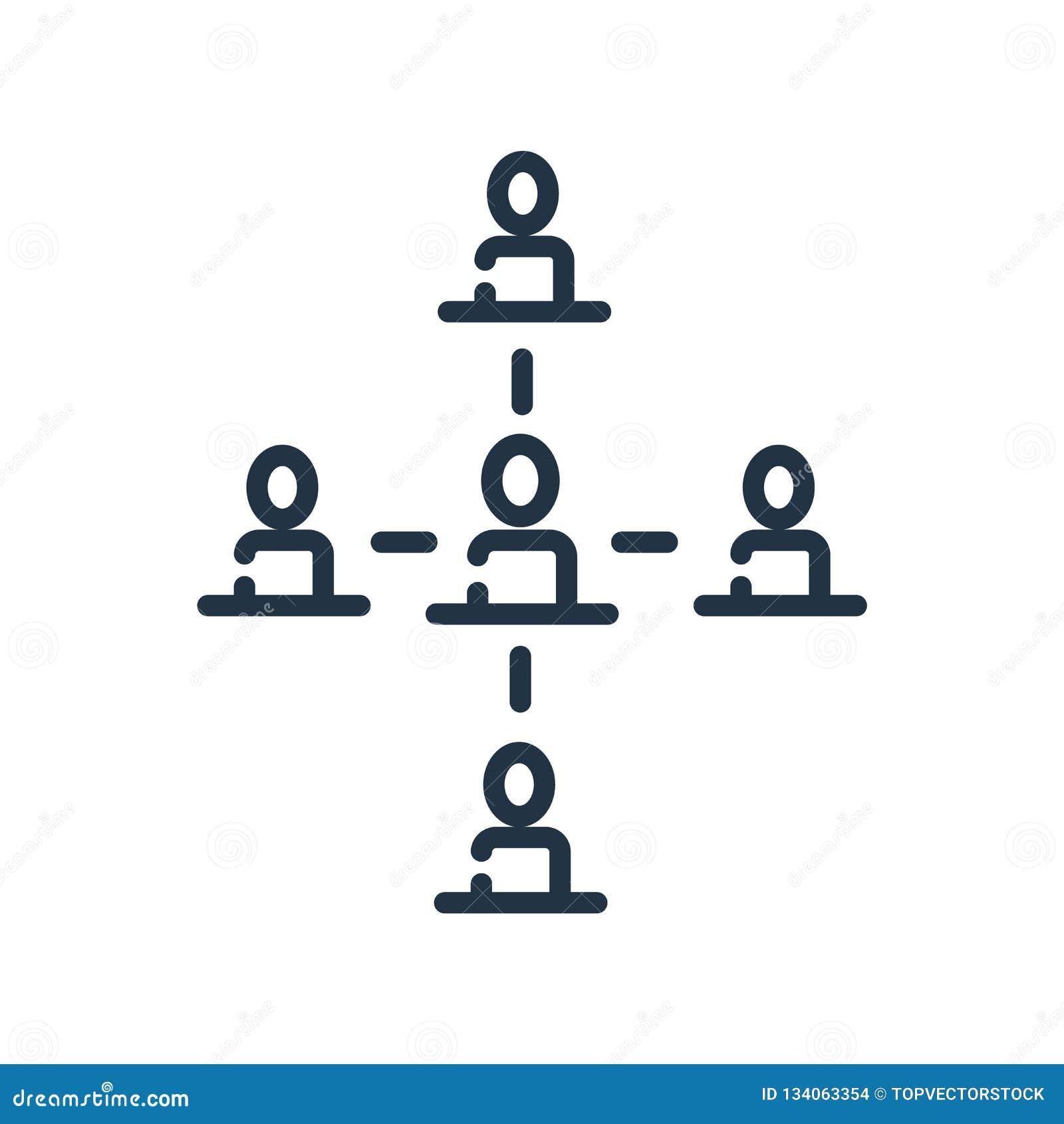 Вектор значка иерархическаяа структура изолированный на белой предпосылке, знаке иерархическаяа структура, линии символе или лине
