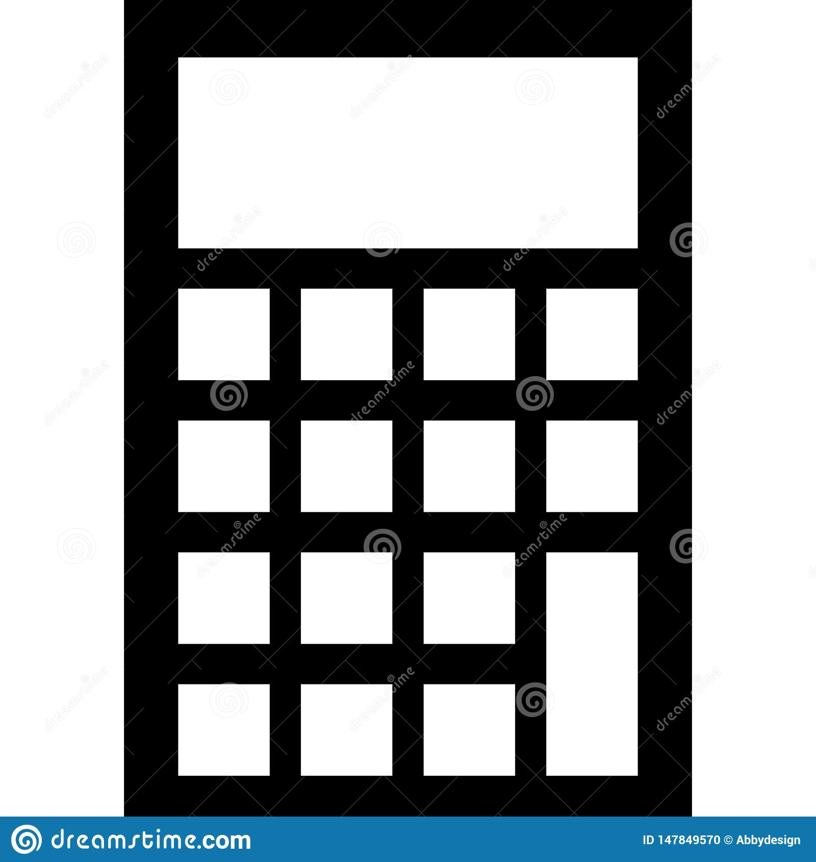 Вектор значка калькулятора