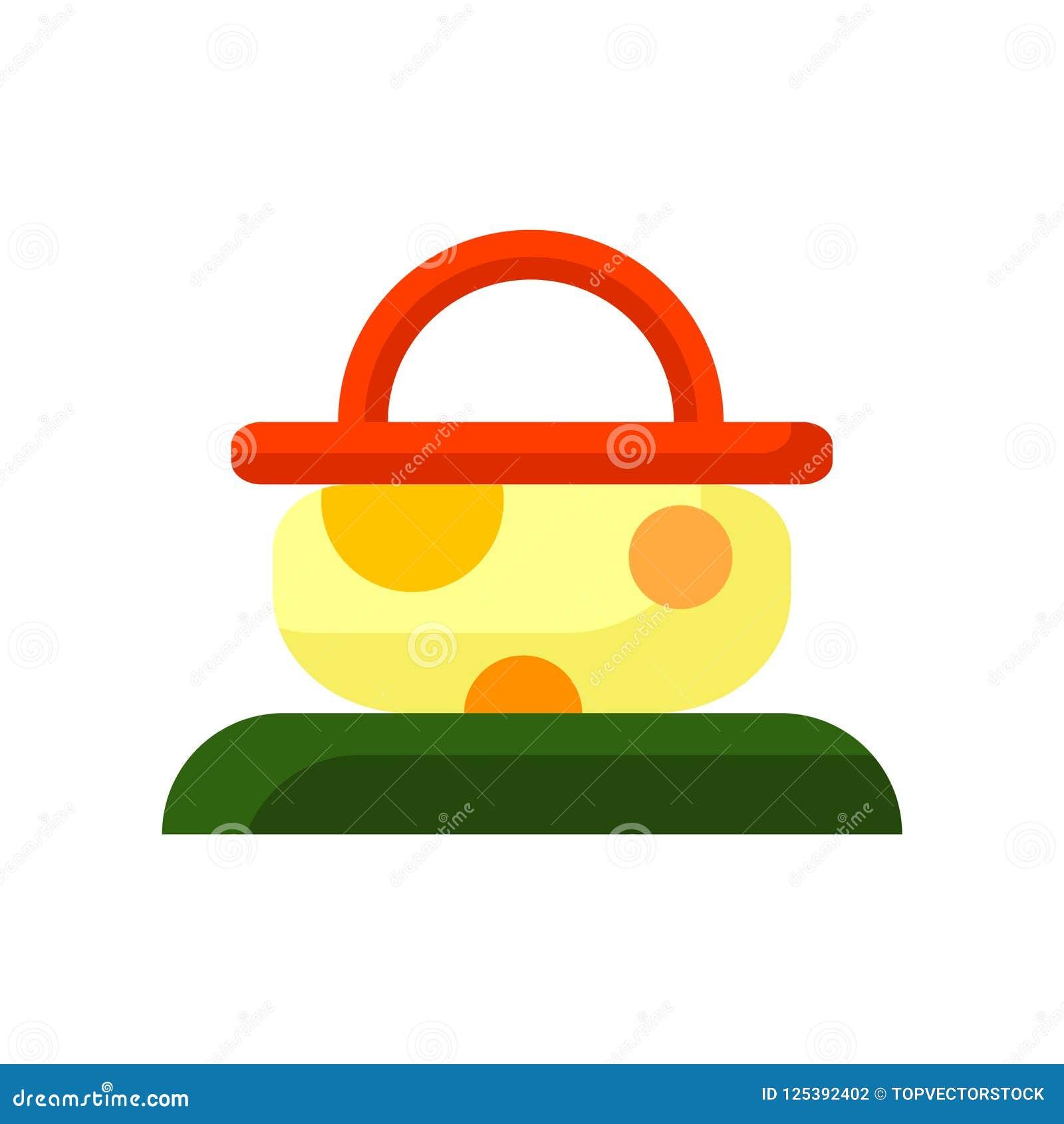 Вектор значка корзины пикника изолированный на белой предпосылке, пикнике b