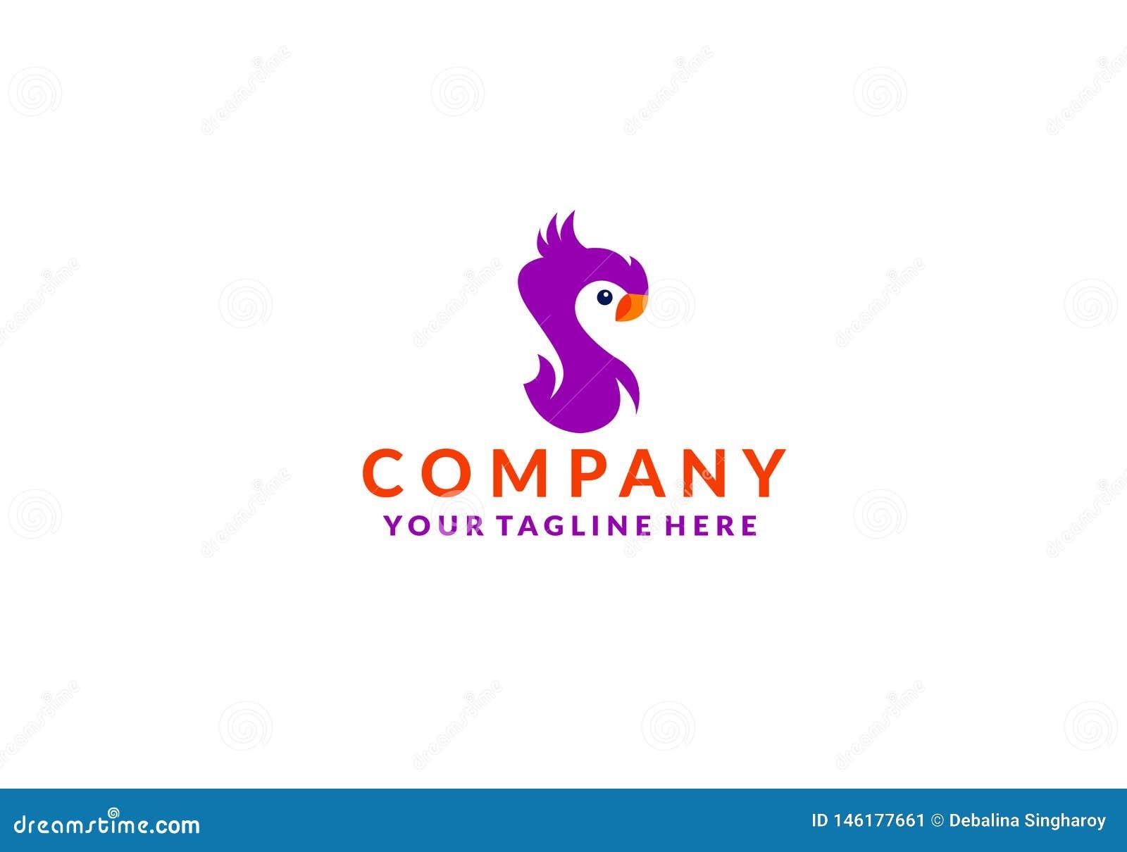Вектор значка логотипа птицы какаду