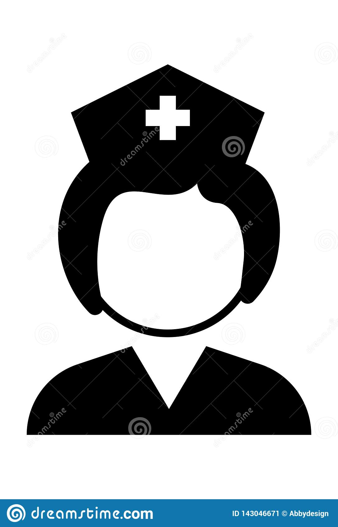 Вектор значка медсестры
