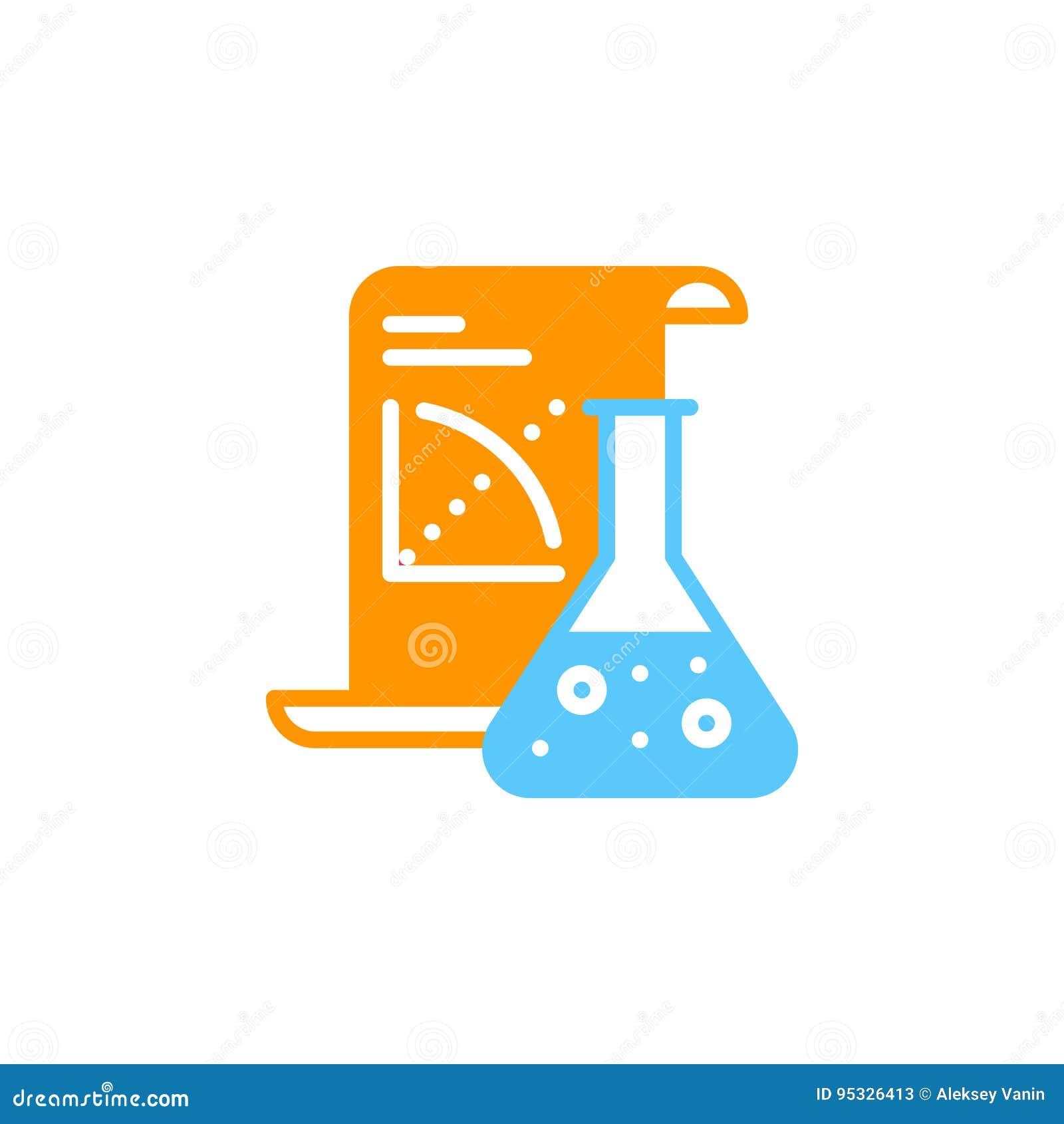 Вектор значка применения науки, заполненный плоский знак, твердая красочная пиктограмма изолированная на белизне