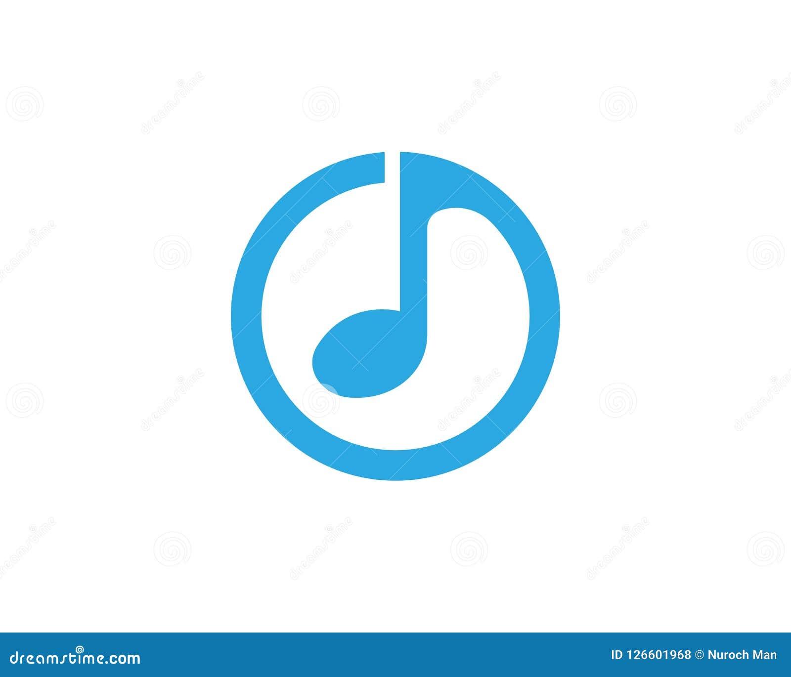 Вектор значка примечания музыки