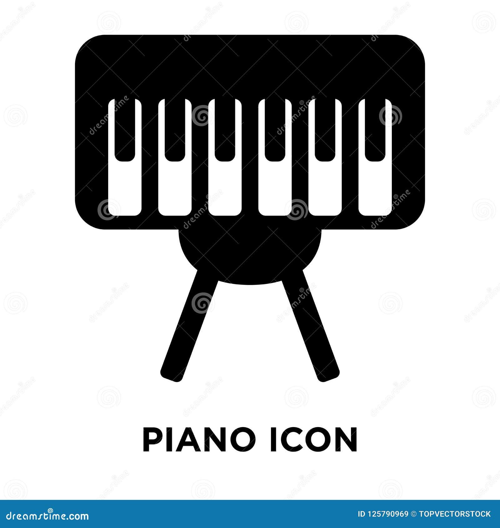 Вектор значка рояля изолированный на белой предпосылке, концепции логотипа