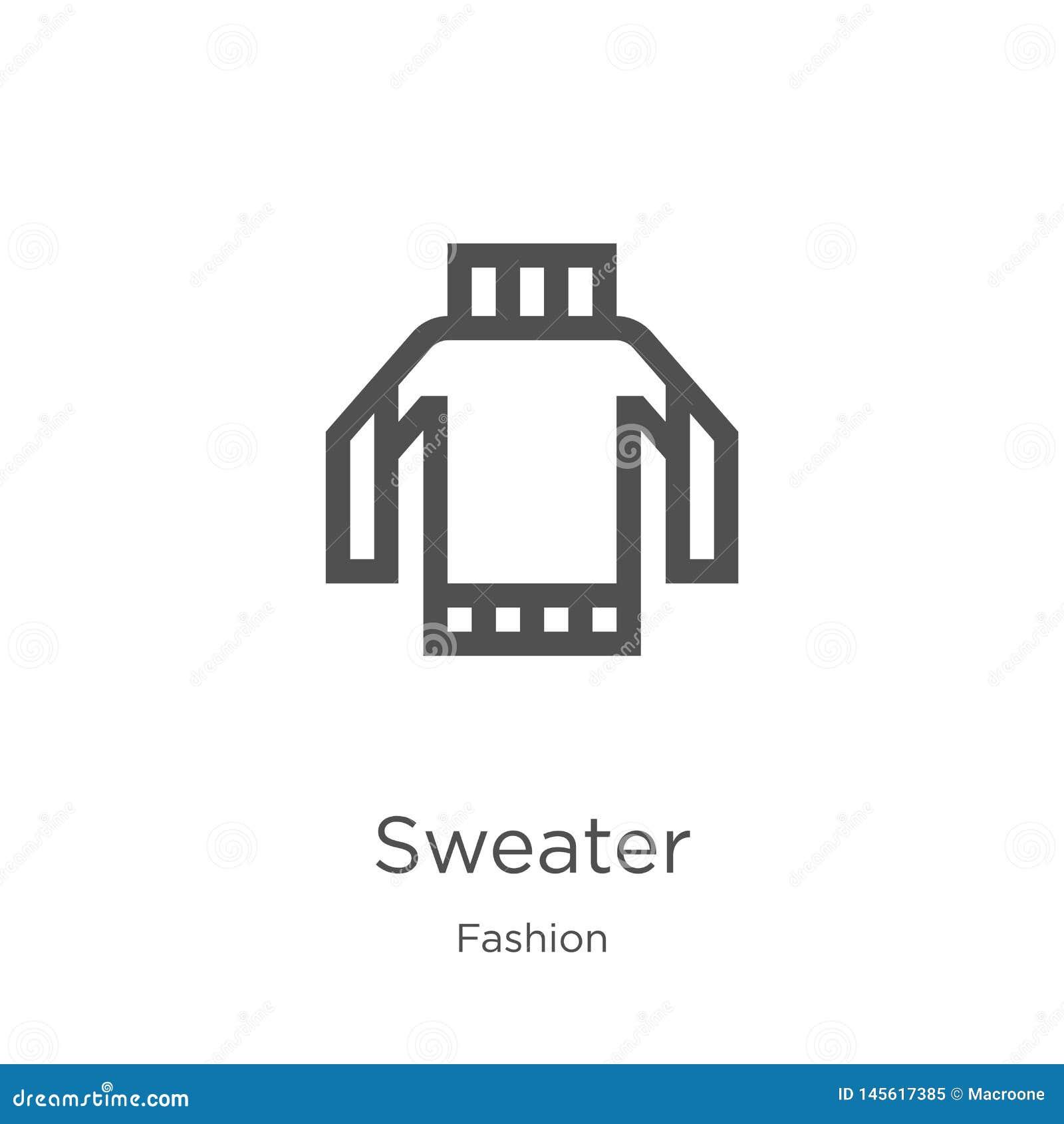 вектор значка свитера от собрания моды Тонкая линия иллюстрация вектора значка плана свитера План, тонкая линия значок свитера