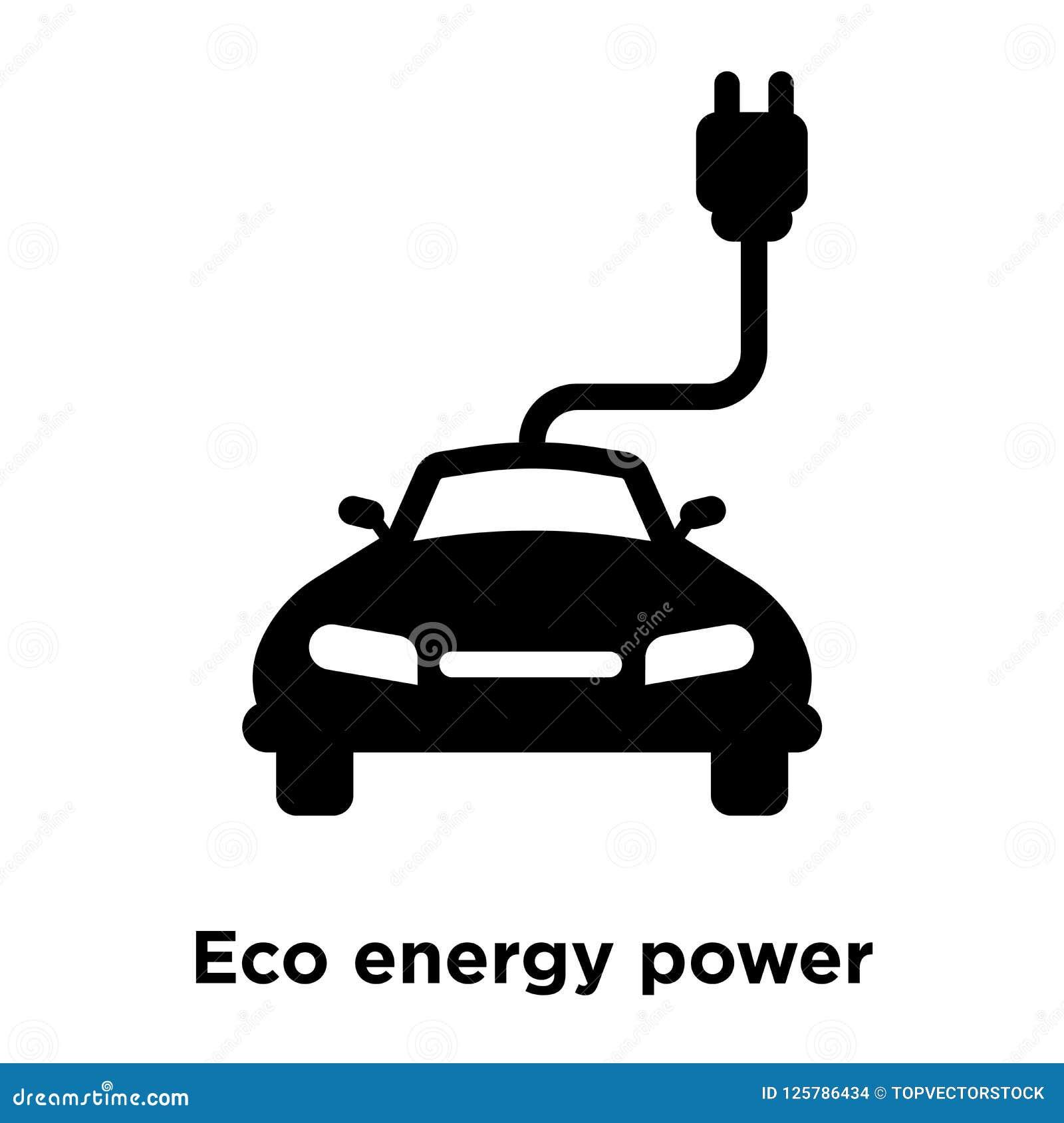 Вектор значка силы энергии Eco изолированный на белой предпосылке, логотипе