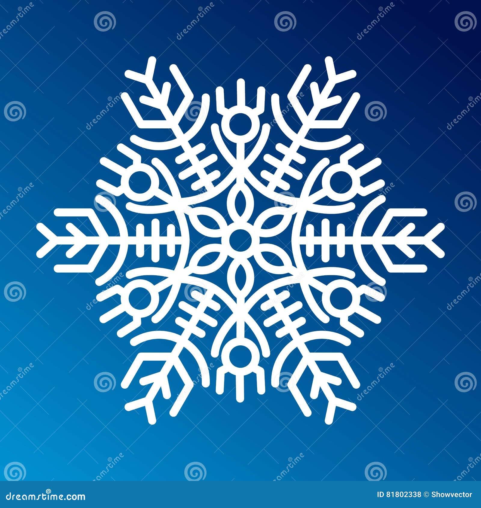 Вектор значка снежинки