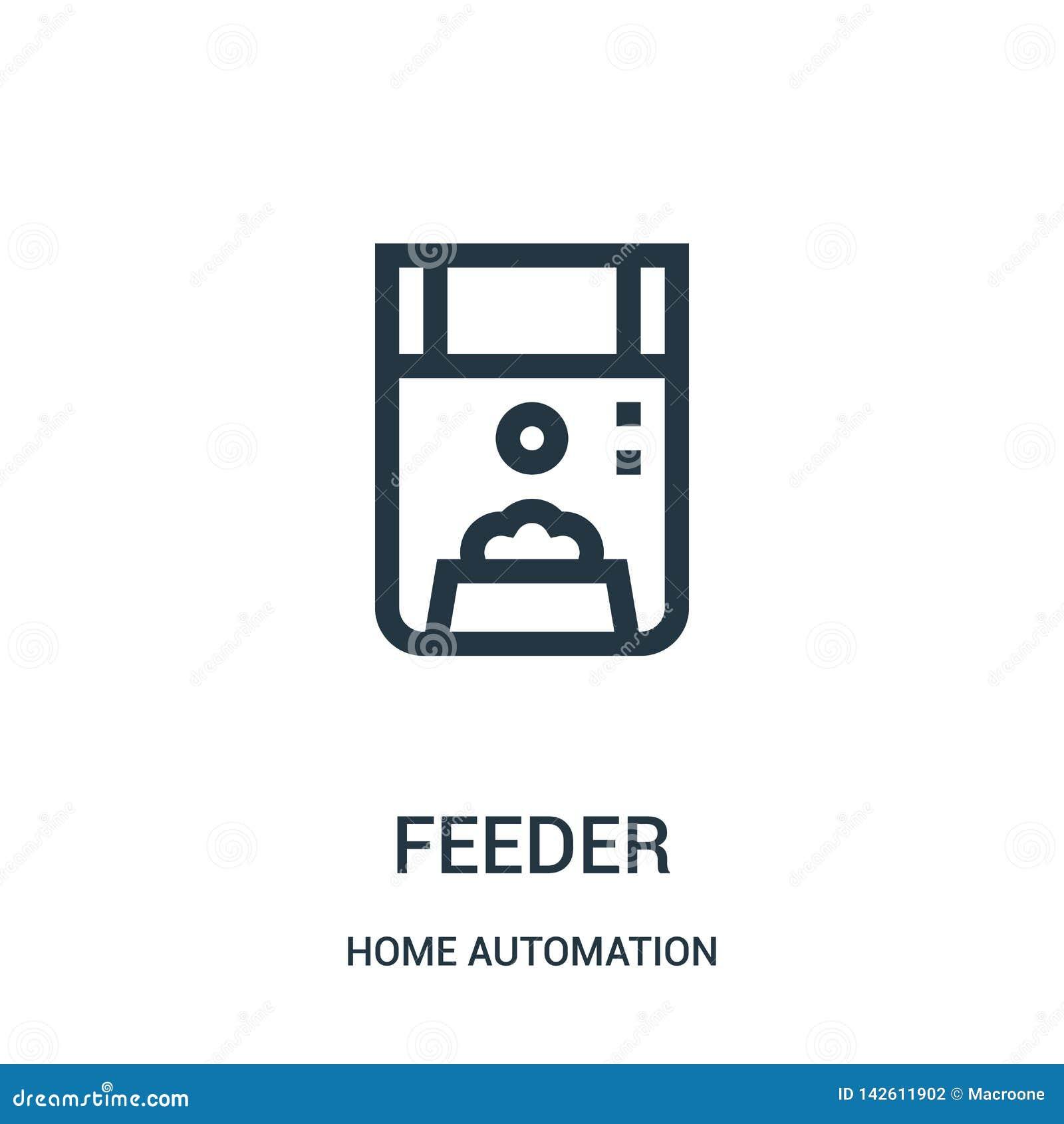 вектор значка фидера от собрания домашней автоматизации Тонкая линия иллюстрация вектора значка плана фидера Линейный символ