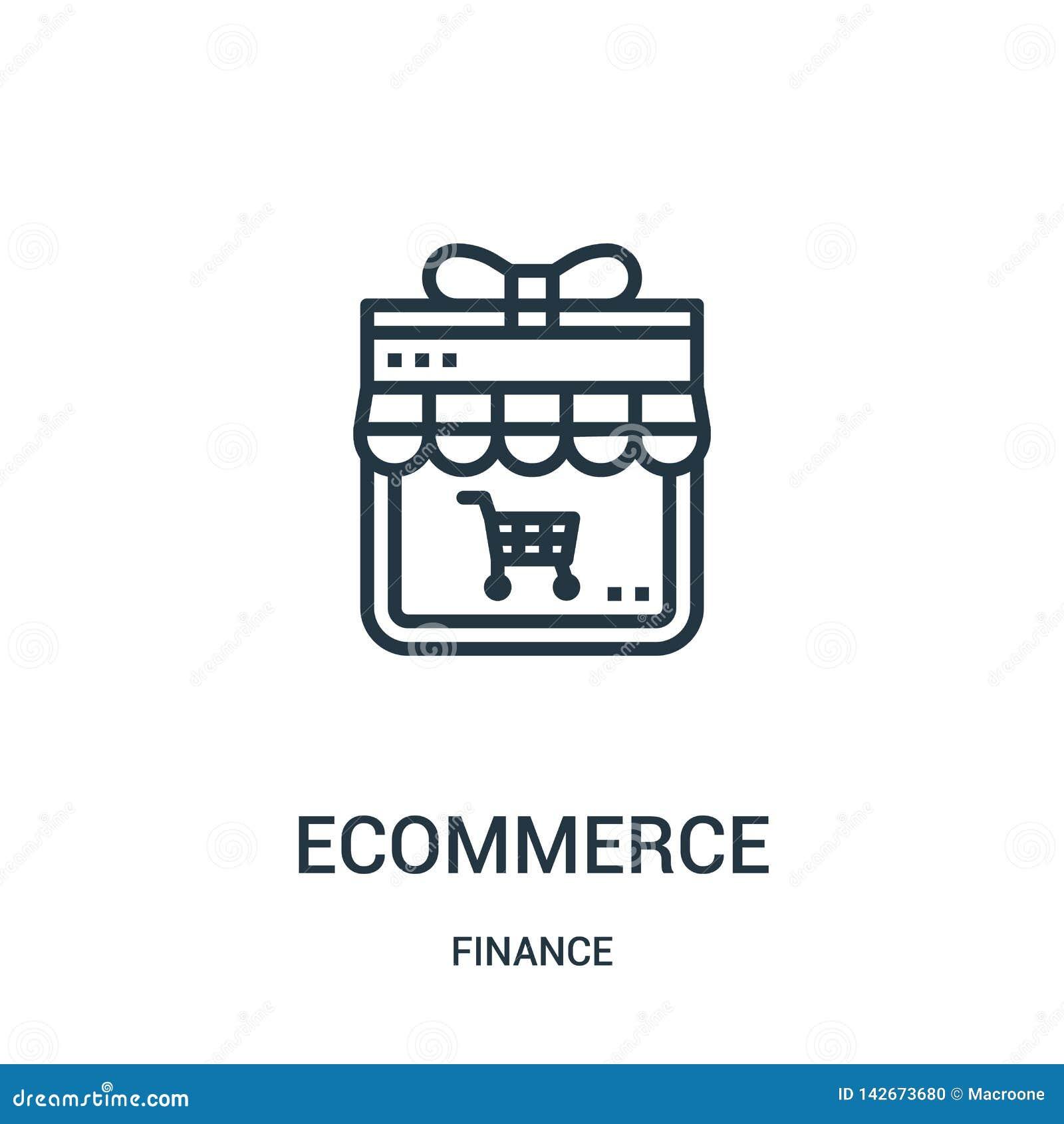 вектор значка ecommerce от собрания финансов Тонкая линия иллюстрация вектора значка плана ecommerce Линейный символ для пользы н