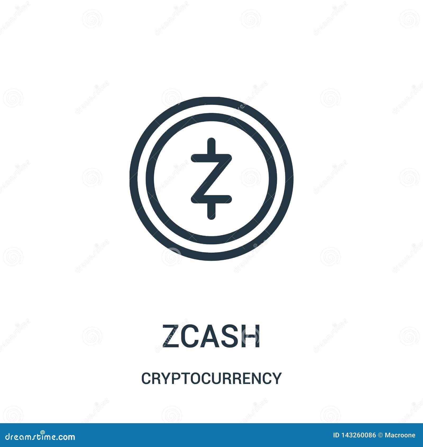 вектор значка zcash от собрания cryptocurrency Тонкая линия иллюстрация вектора значка плана zcash