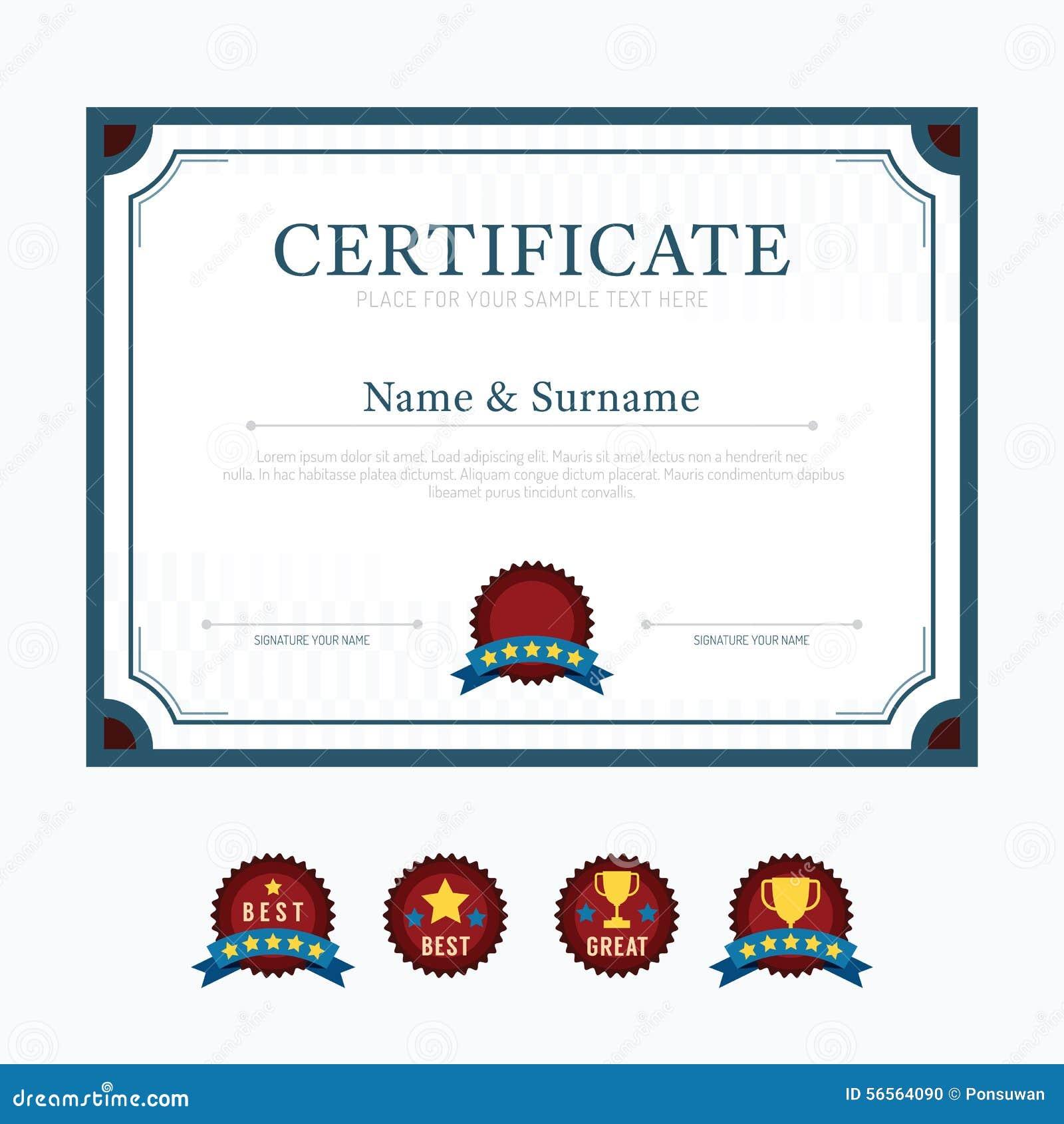 Вектор дизайна рамки предпосылки плана шаблона сертификата режим