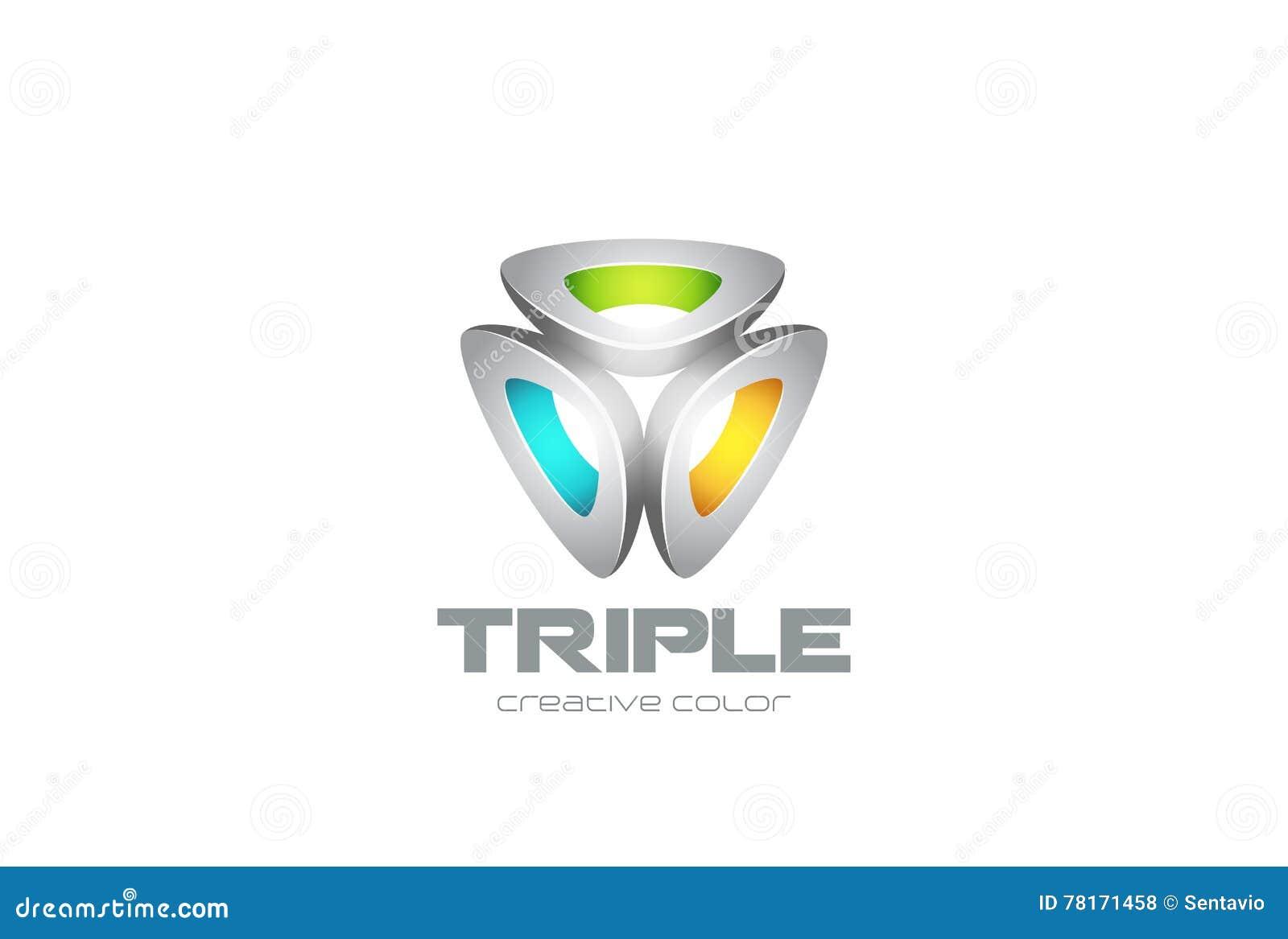 Вектор дизайна технологии логотипа треугольника абстрактный