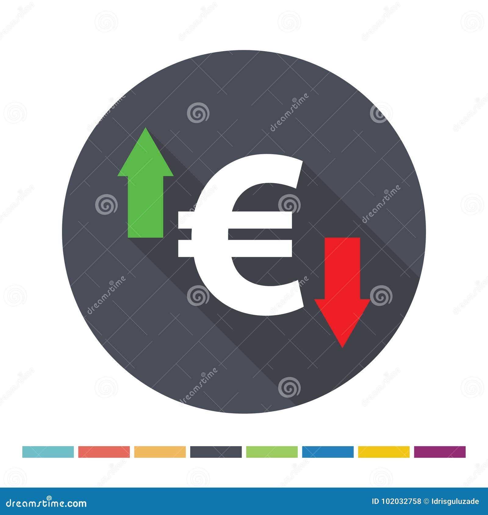 вектор иконы евро собрания большой