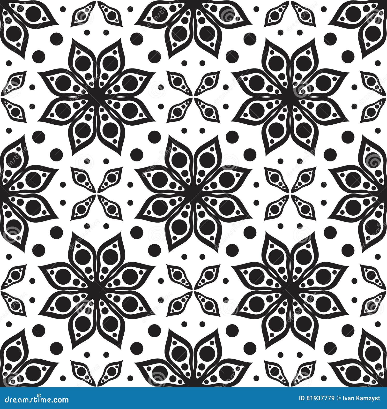 вектор картины безшовный Современная геометрическая текстура, флористическое backgr