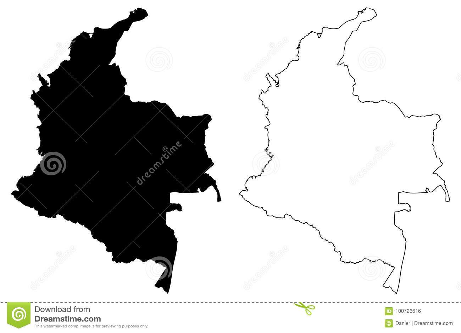 Вектор карты Колумбии