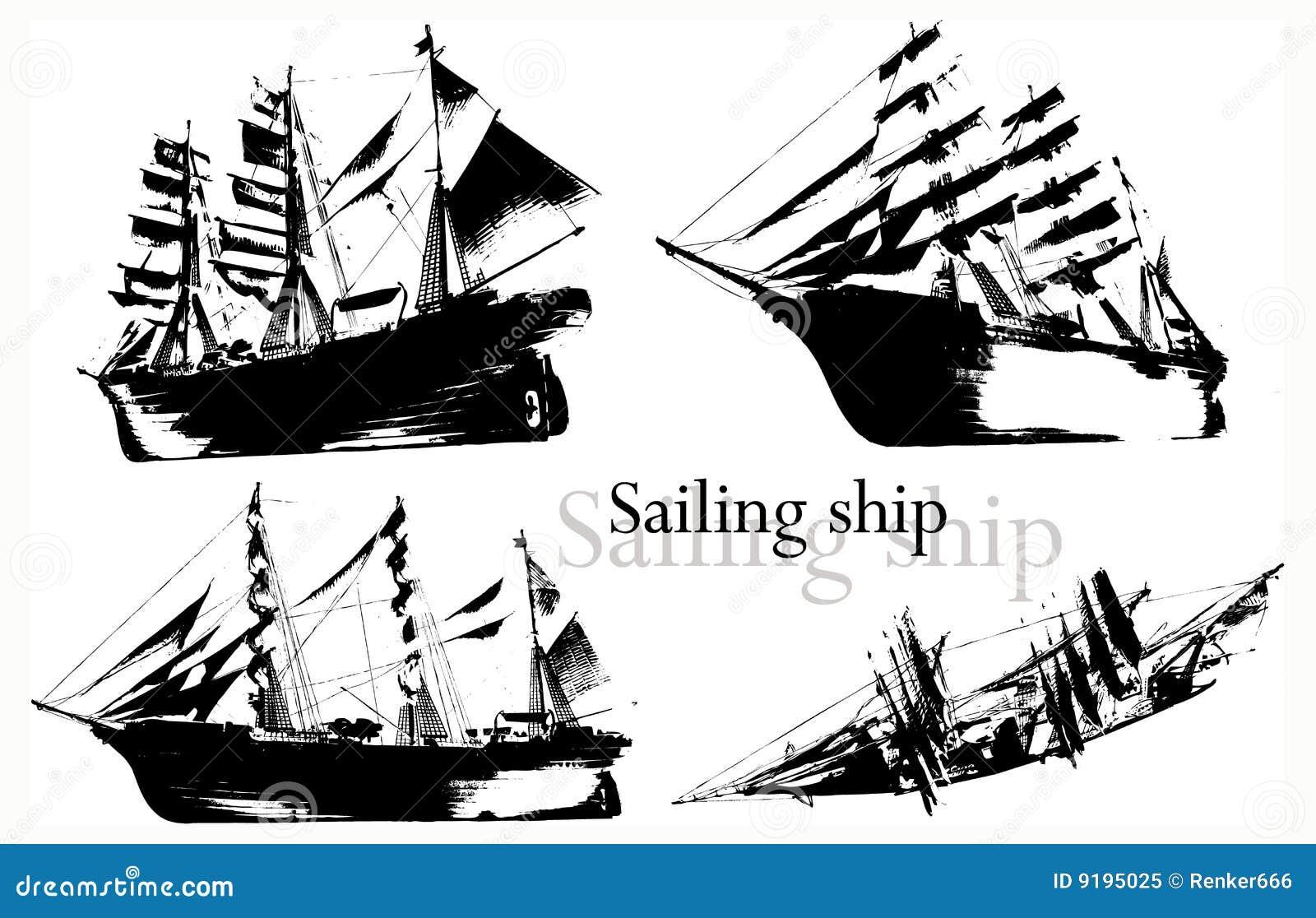 вектор корабля
