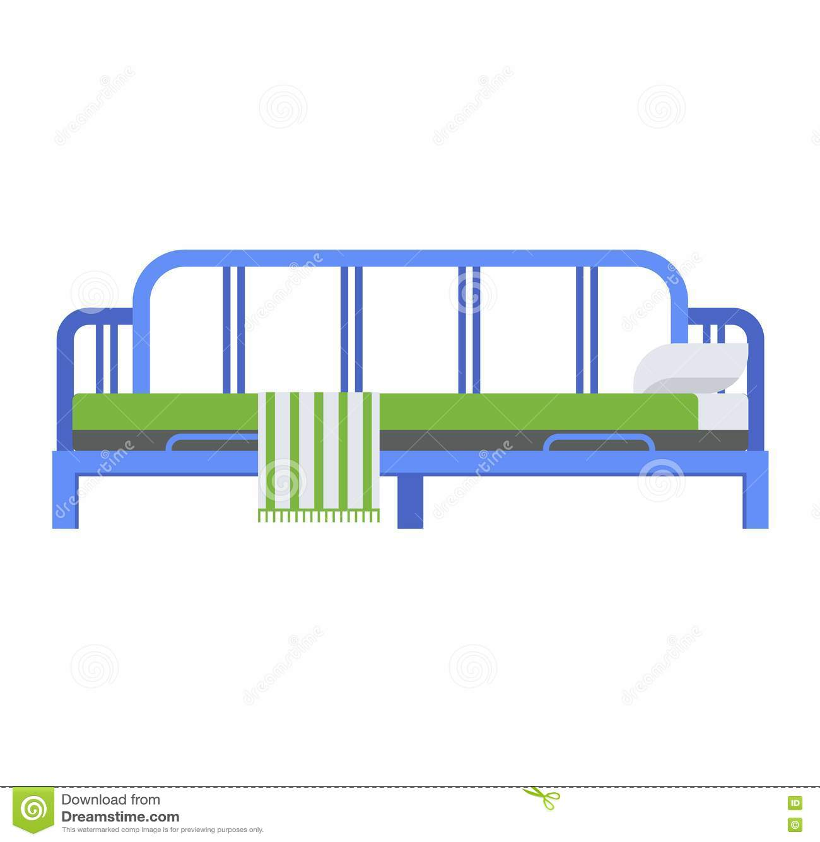 Вектор кровати спать