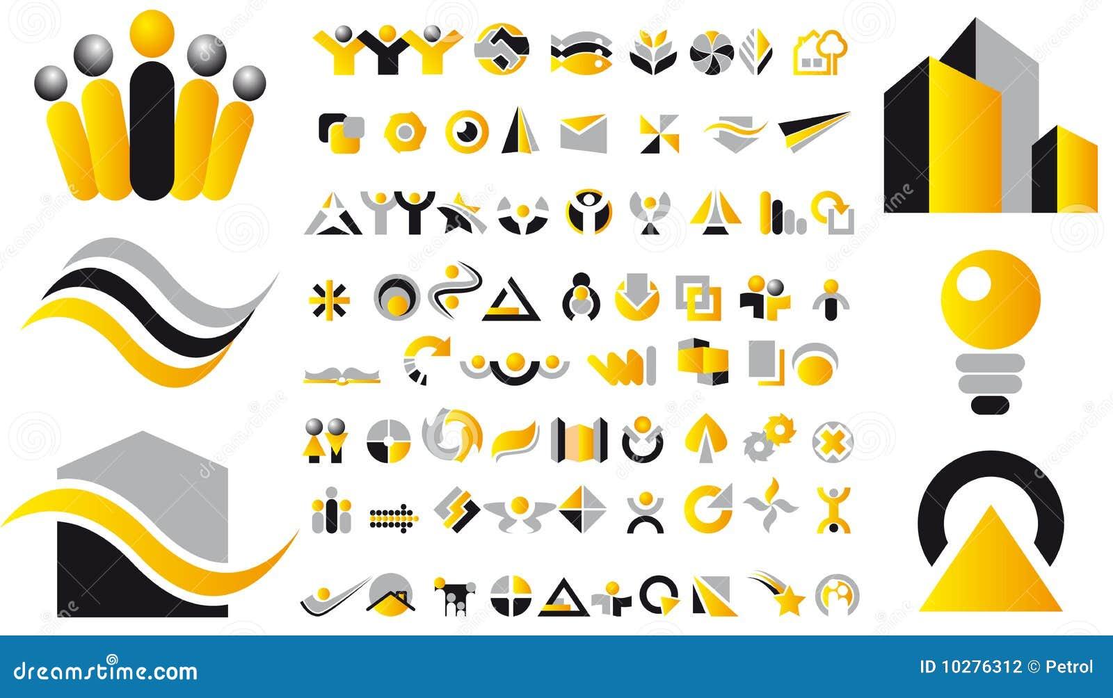 вектор логоса элементов конструкции