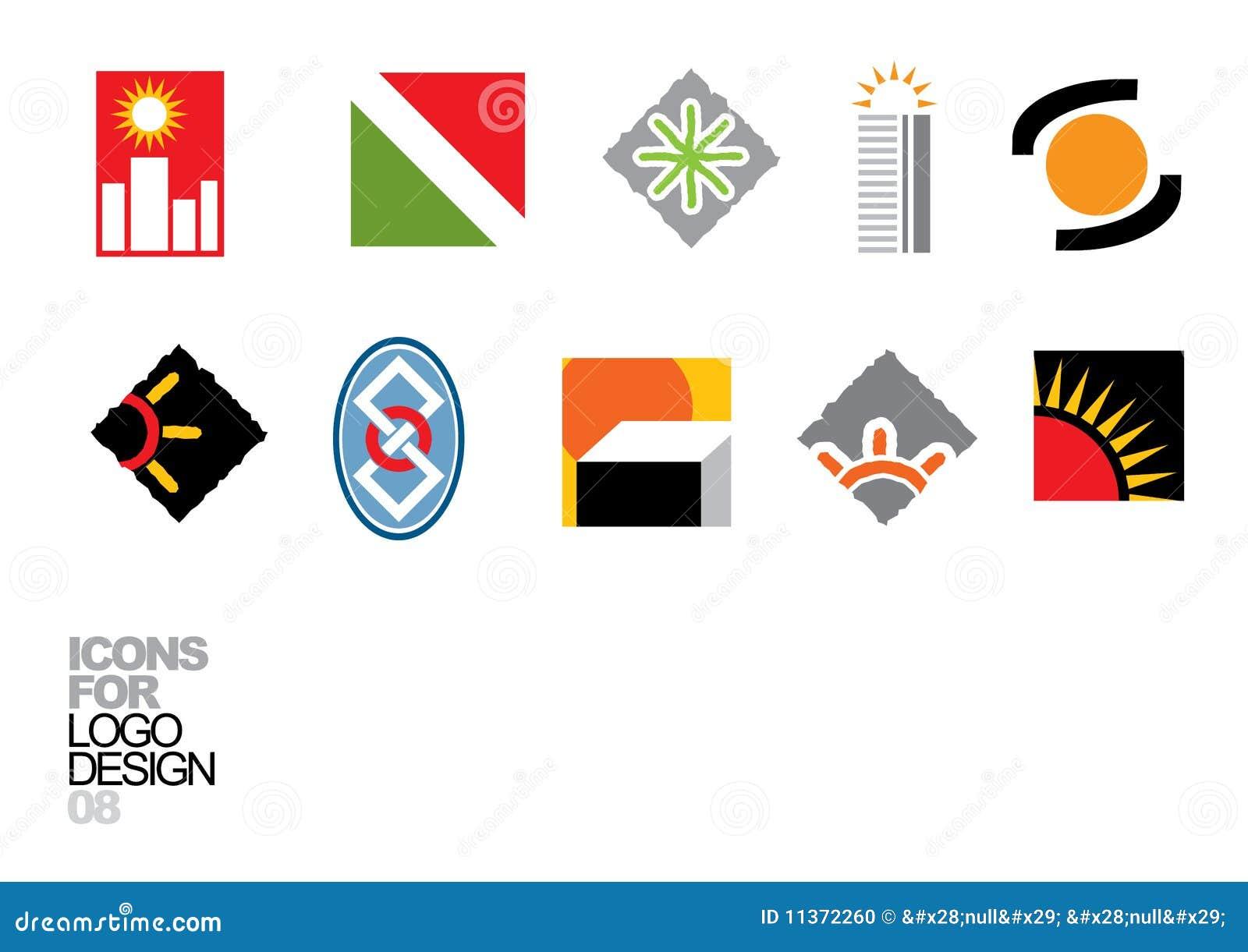вектор логоса 08 элементов конструкции