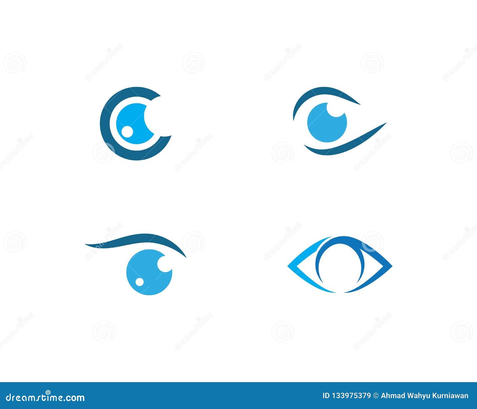 Вектор логотипа заботы глаза